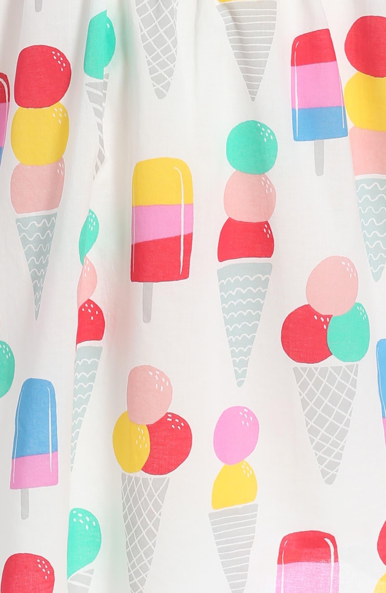 Print Dress,                             Alternate thumbnail 3, color,                             906