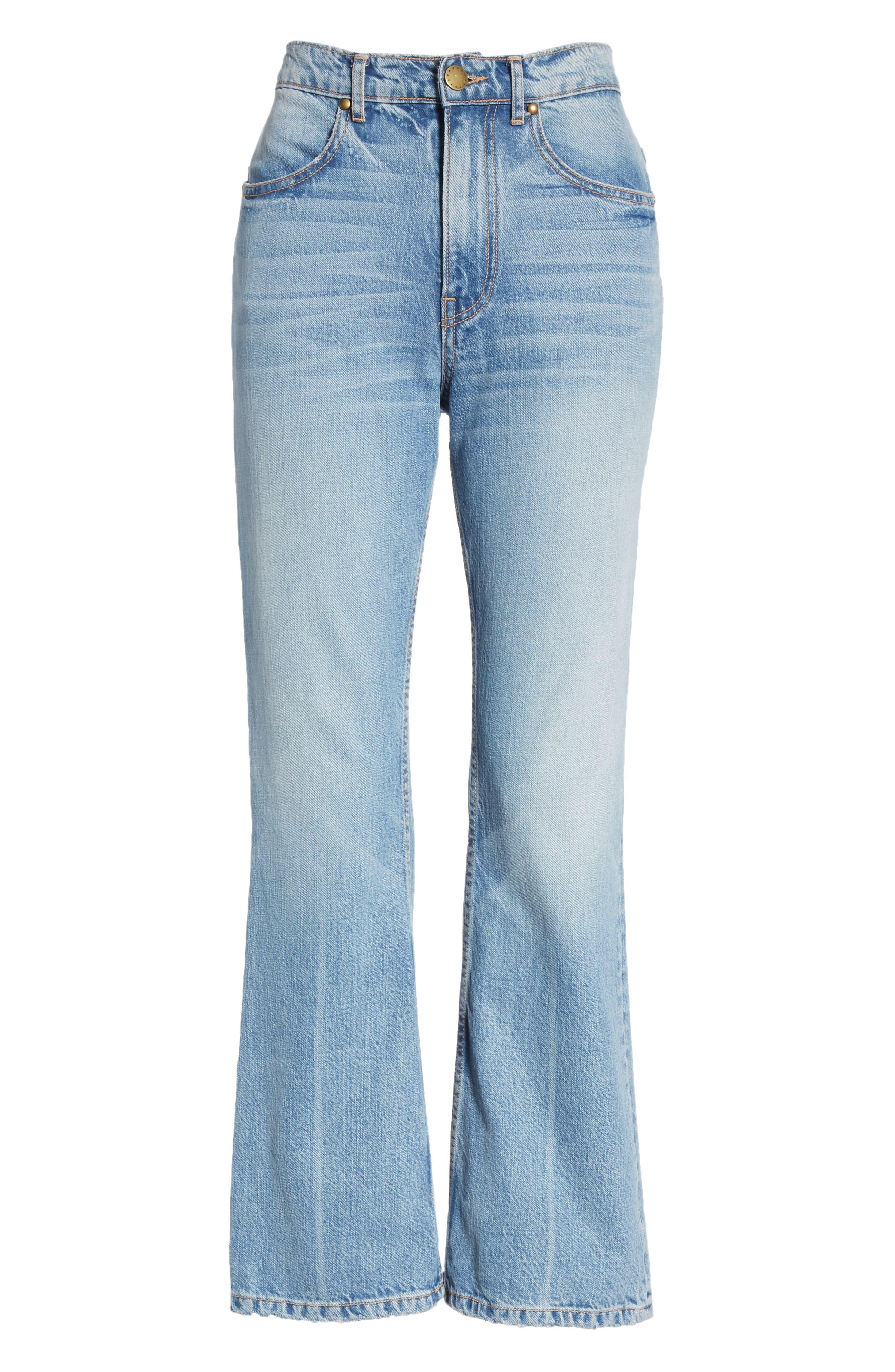 Western Crop Bootcut Jeans,                             Alternate thumbnail 7, color,                             400