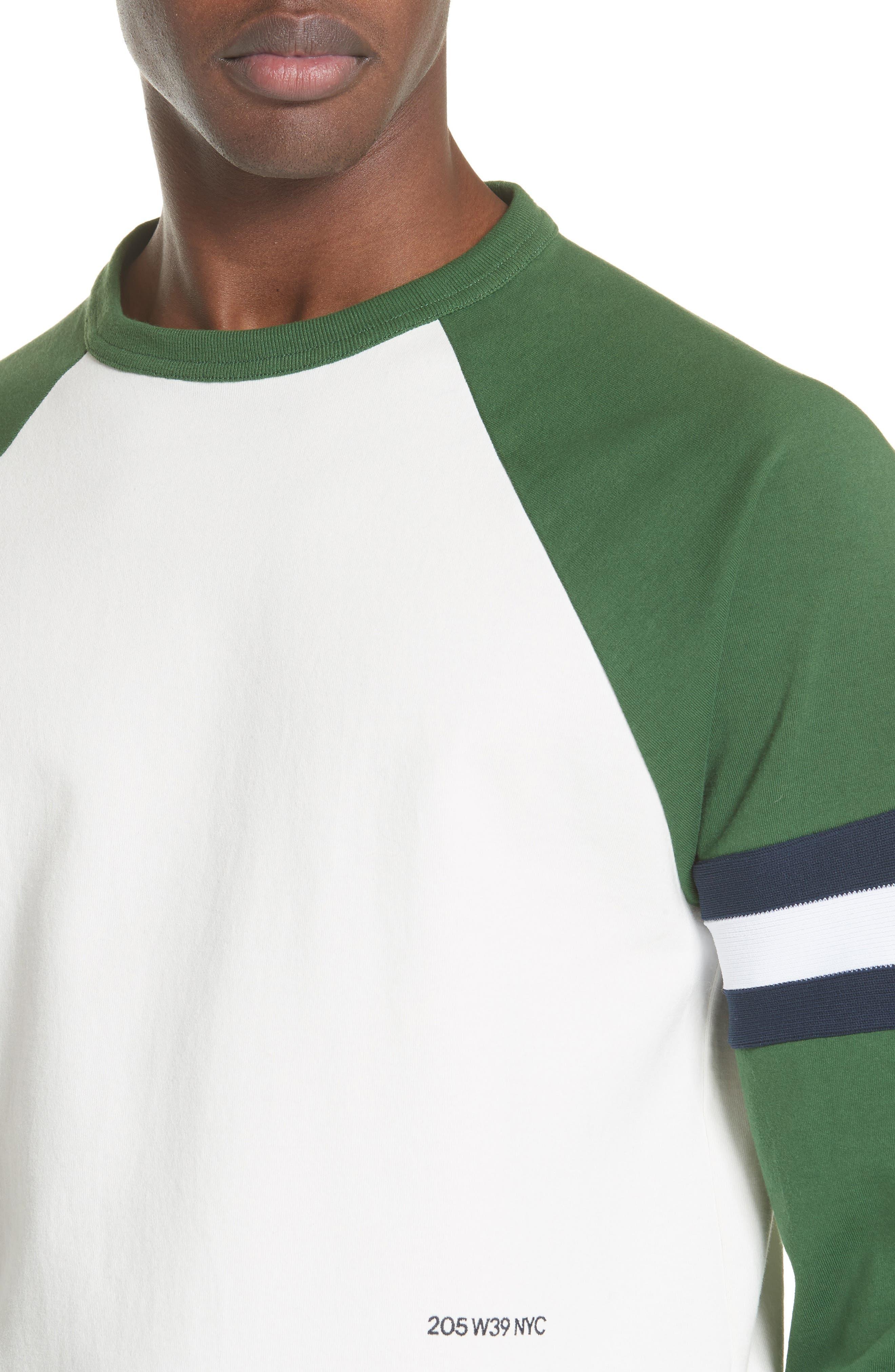 Long Sleeve Varsity T-Shirt,                             Alternate thumbnail 4, color,                             WHITE