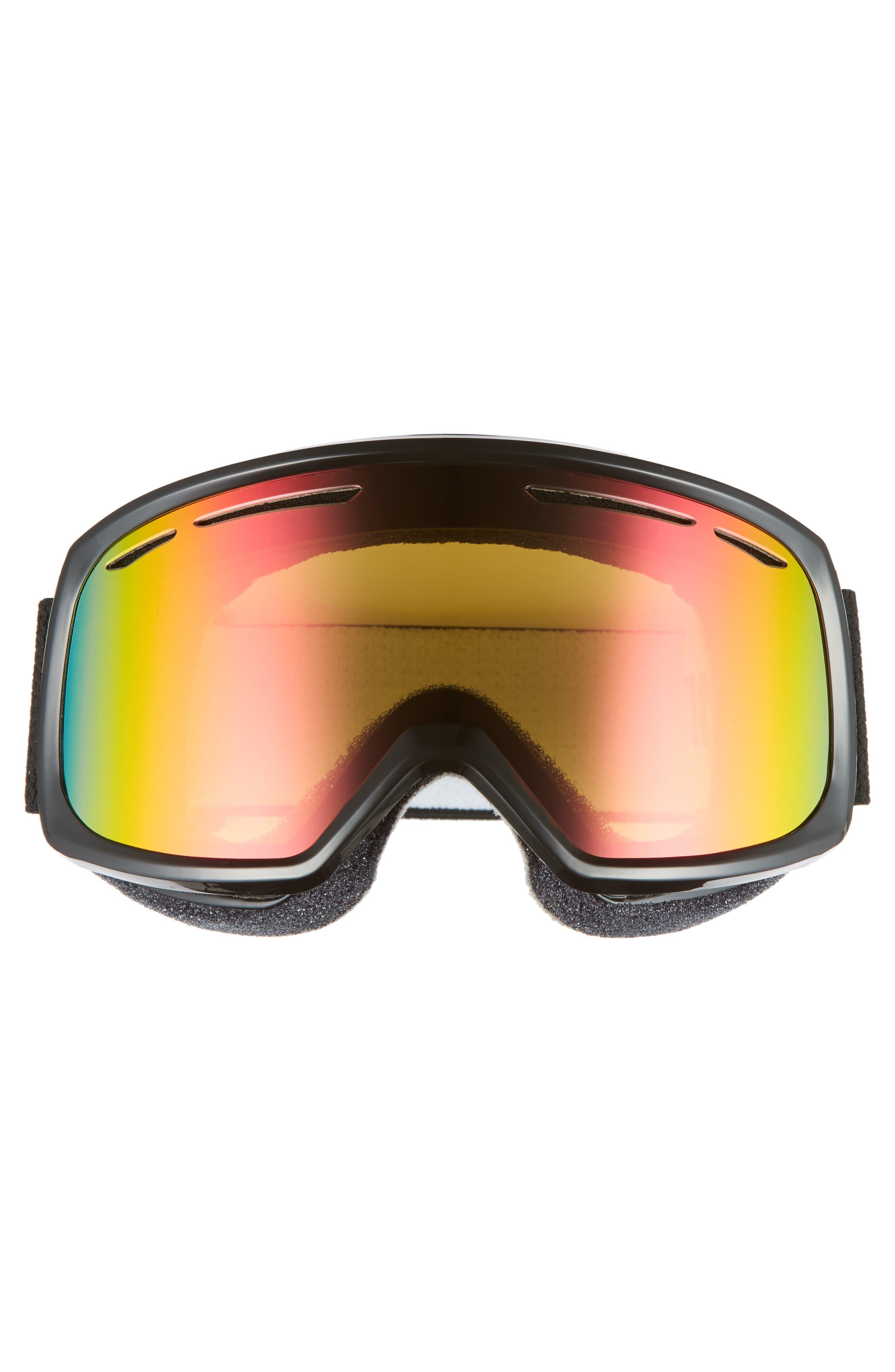 Drift Snow Goggles,                             Alternate thumbnail 3, color,                             BLACK/ MIRROR