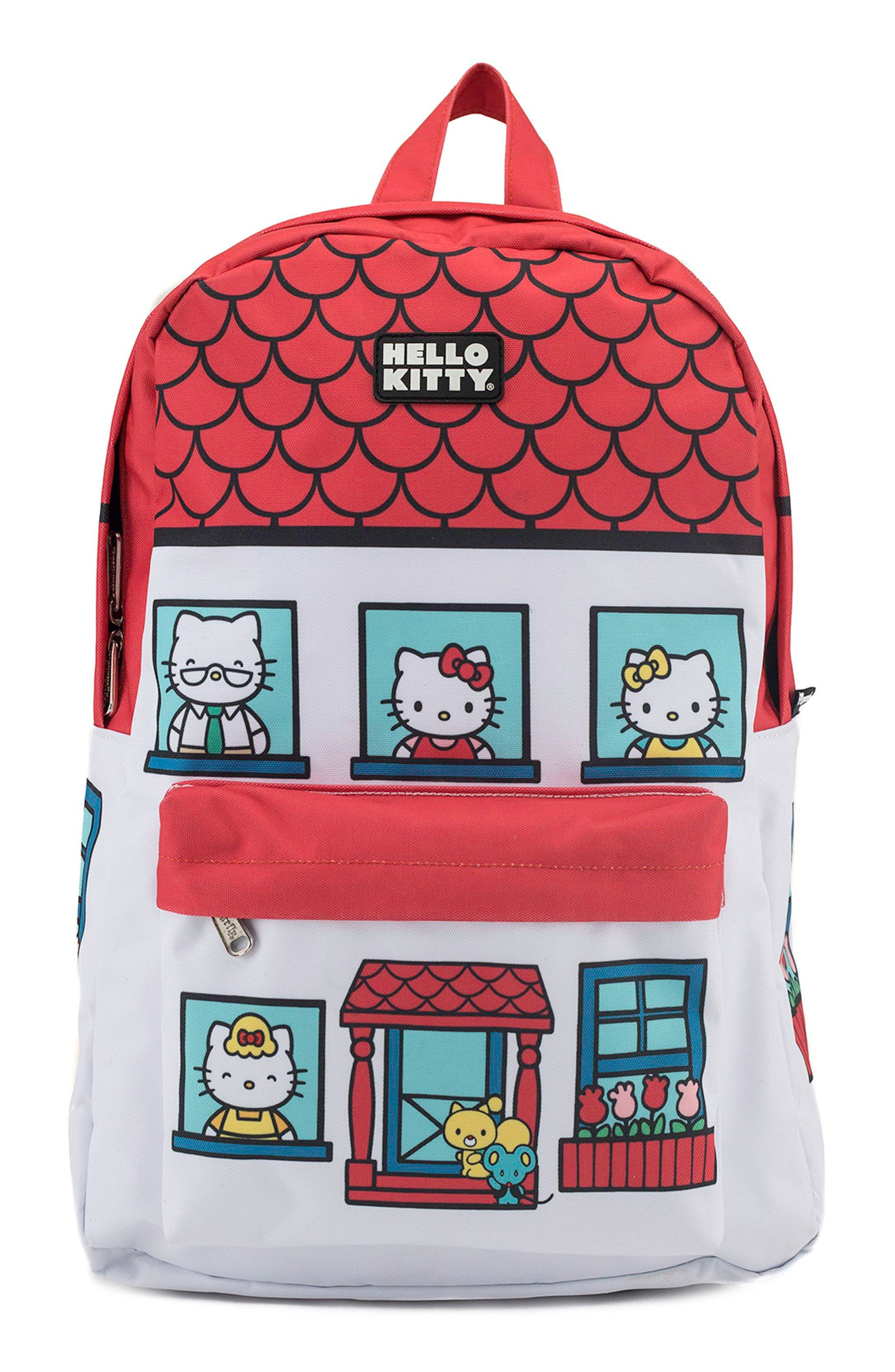 x Hello Kitty House Backpack,                         Main,                         color, 100