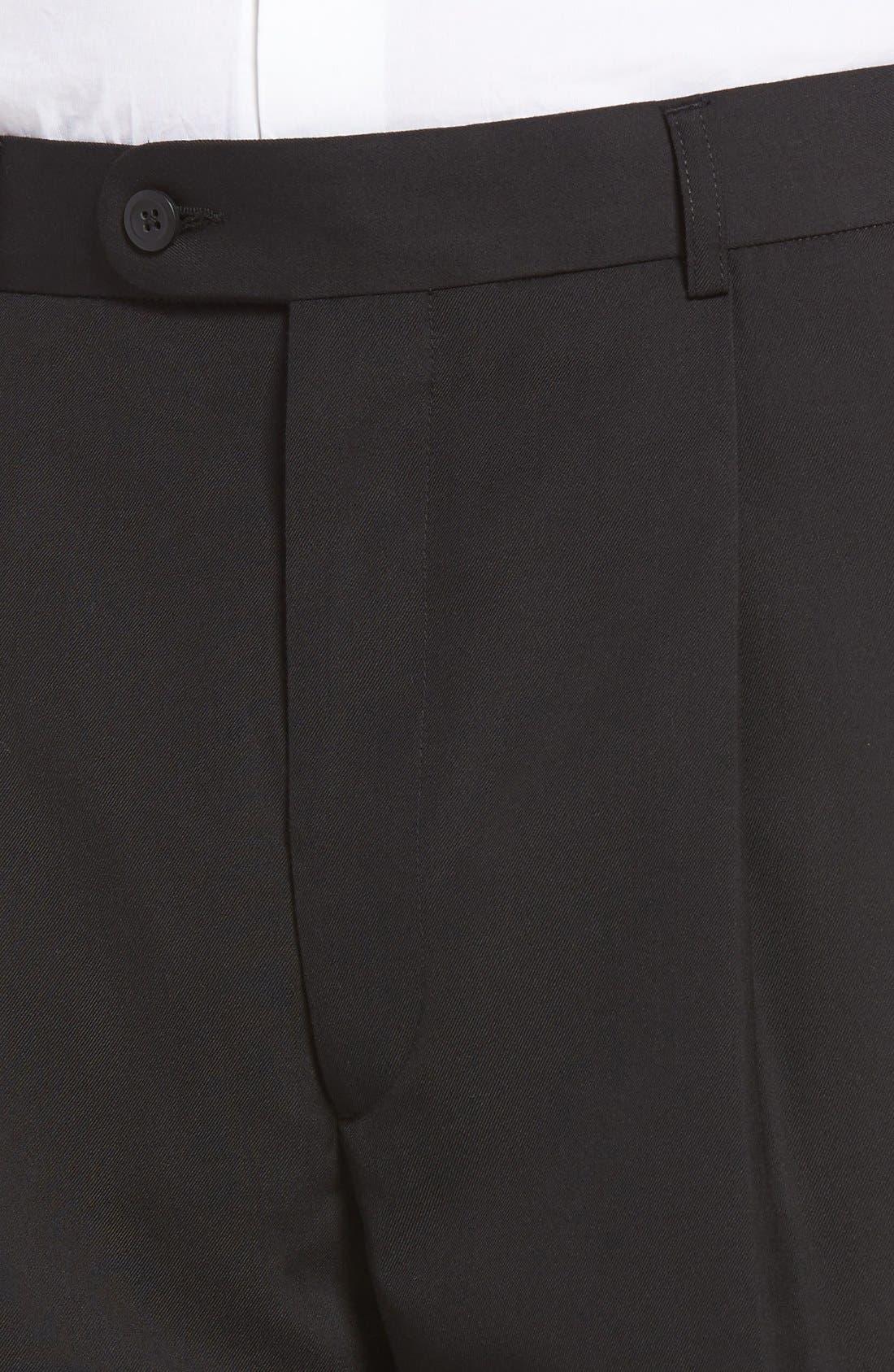 Pleated Microfiber Dress Pants,                             Alternate thumbnail 23, color,