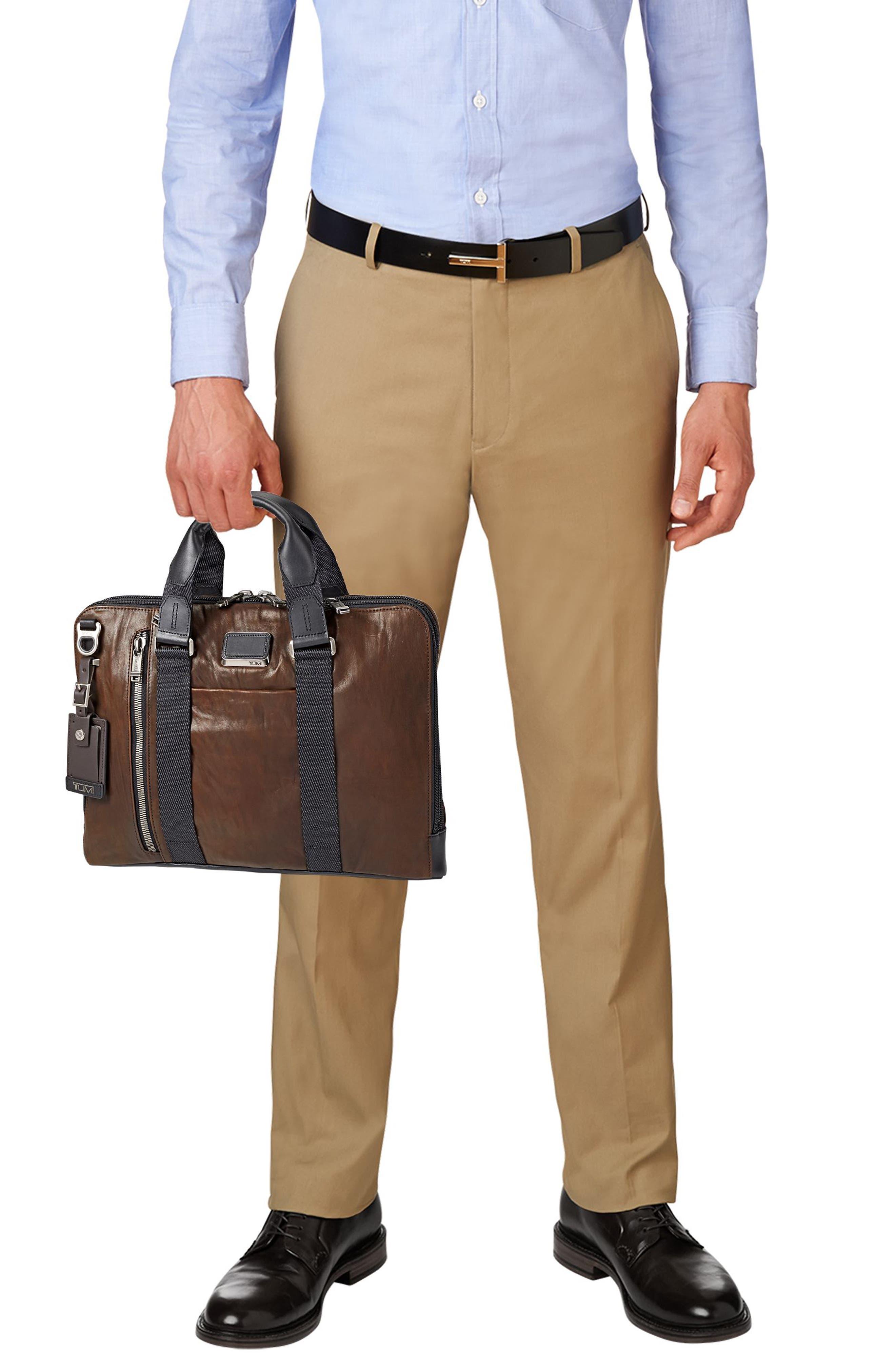 Alpha Bravo - Aviano Leather Briefcase,                             Alternate thumbnail 6, color,