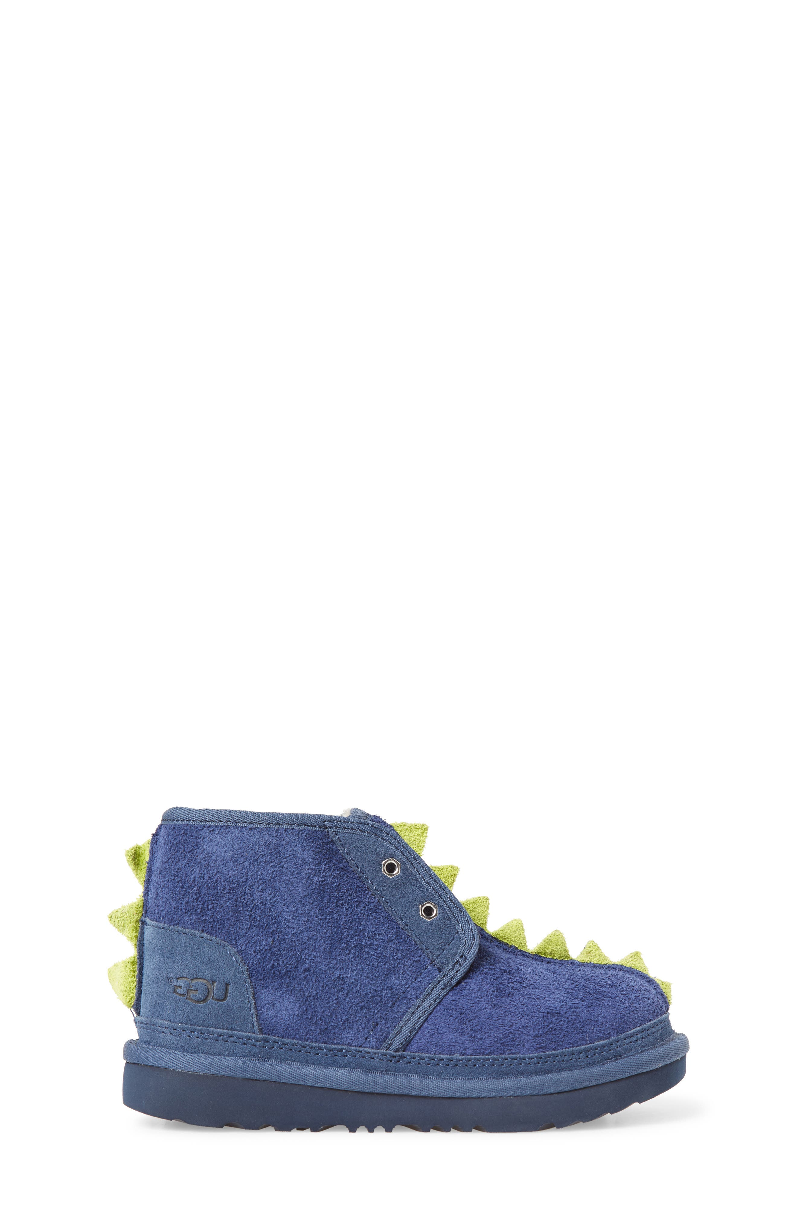 Dydo Neumel Genuine Shearling Lined Boot,                             Alternate thumbnail 3, color,                             NAVY / BRIGHT CHARTREUSE