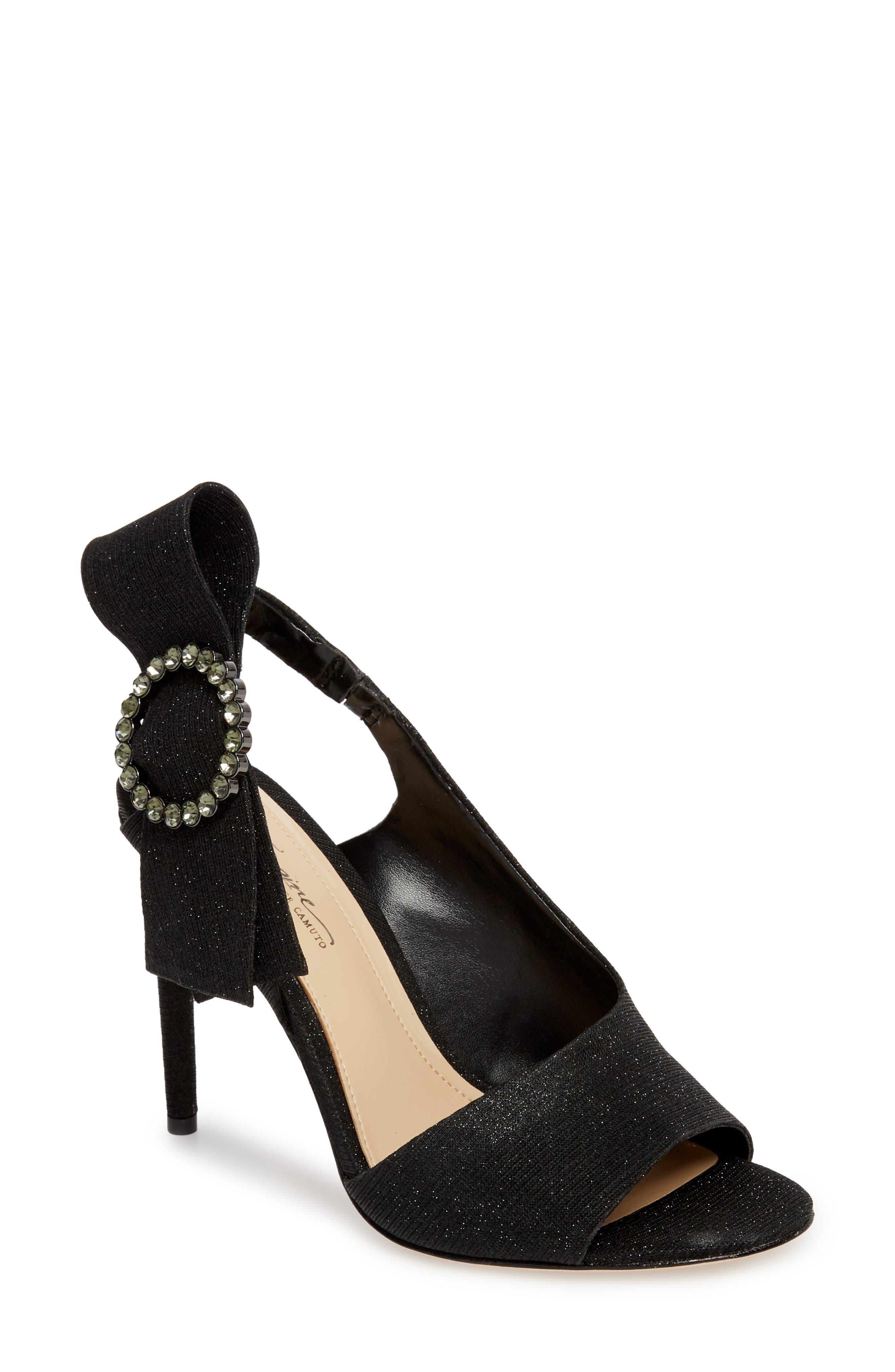 Regin Sandal,                         Main,                         color, BLACK FABRIC