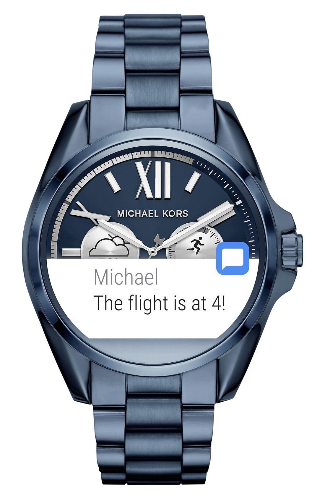 MICHAEL Michael Kors Bradshaw Access Bracelet Smart Watch, 45mm,                             Alternate thumbnail 29, color,