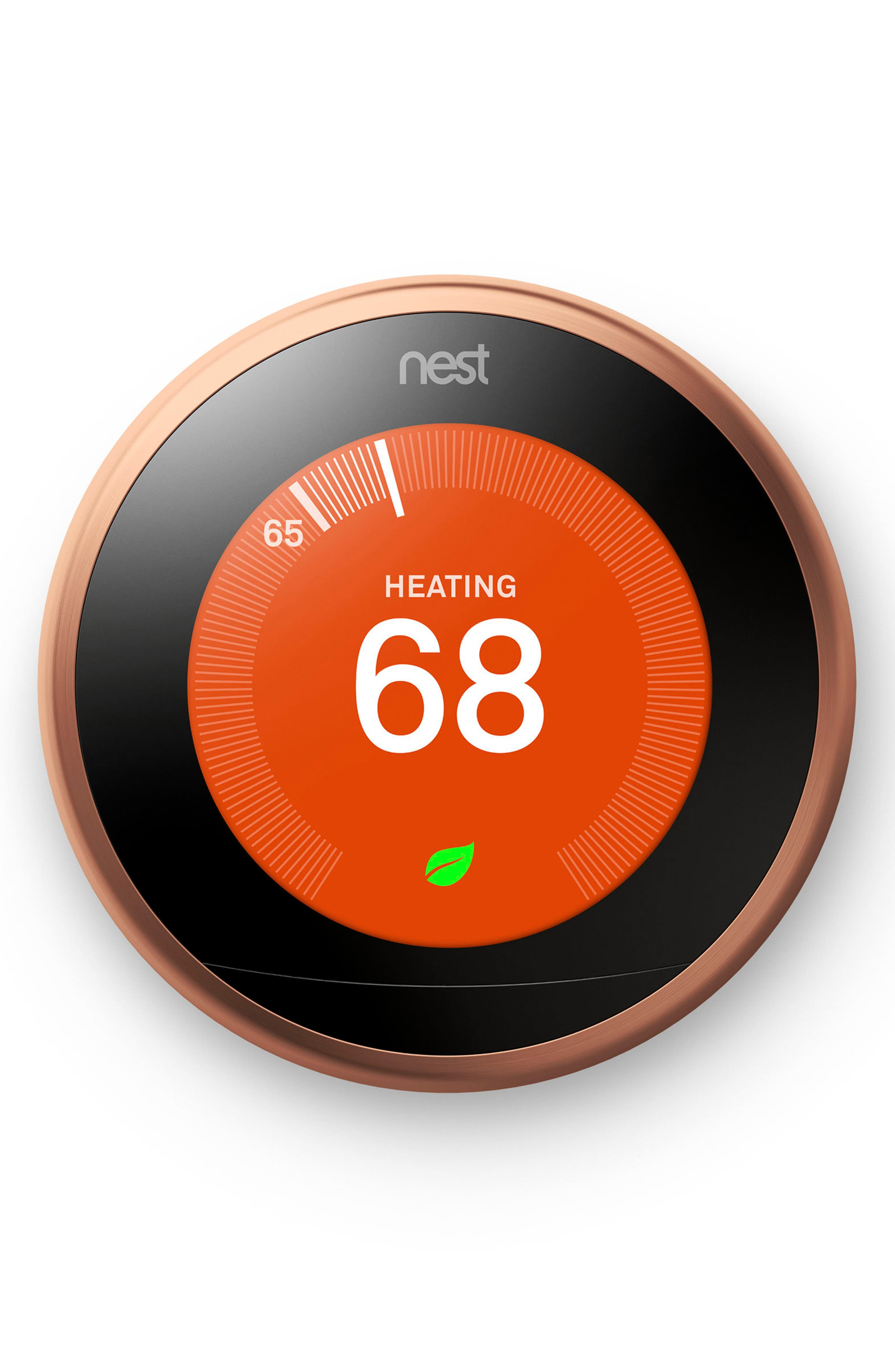 Learning Thermostat,                             Main thumbnail 1, color,                             COPPER