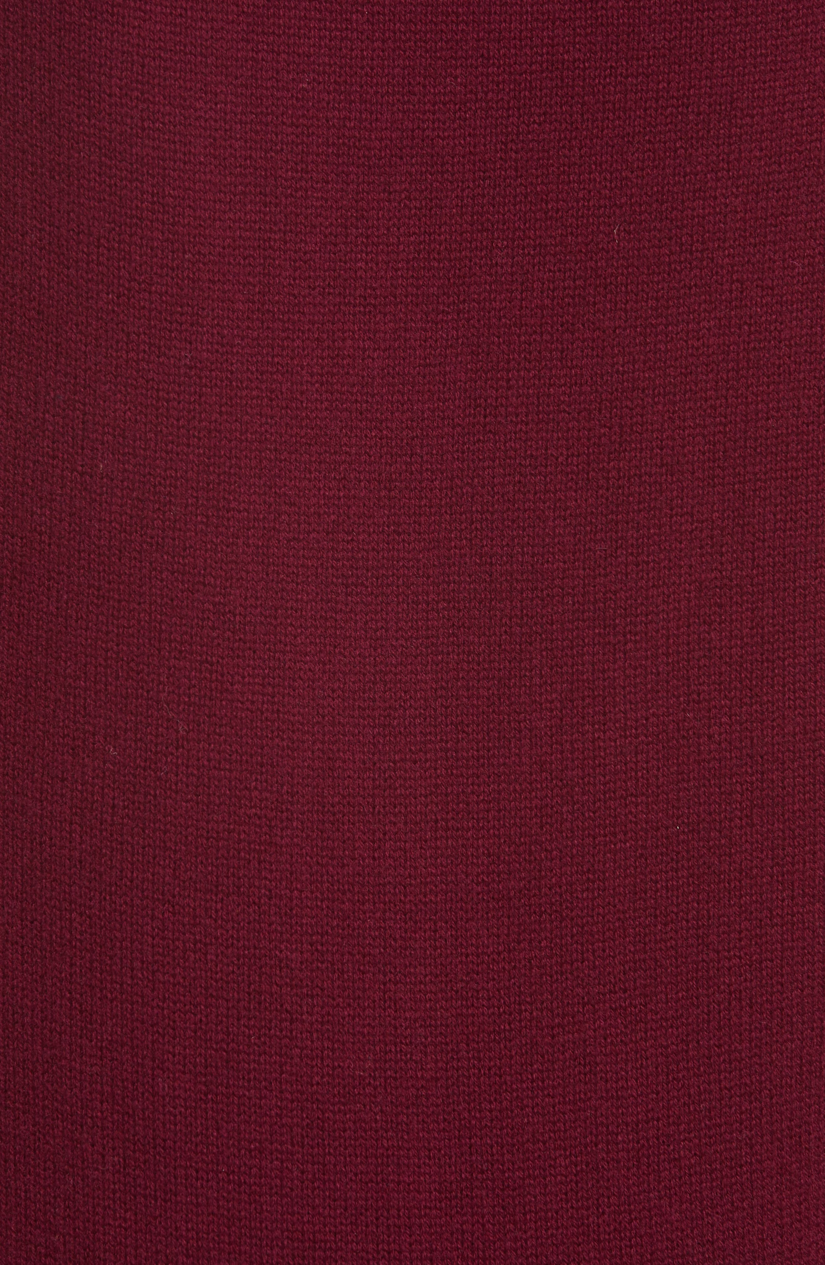 High/Low Wool & Cashmere Sweater,                             Alternate thumbnail 5, color,                             MAROON