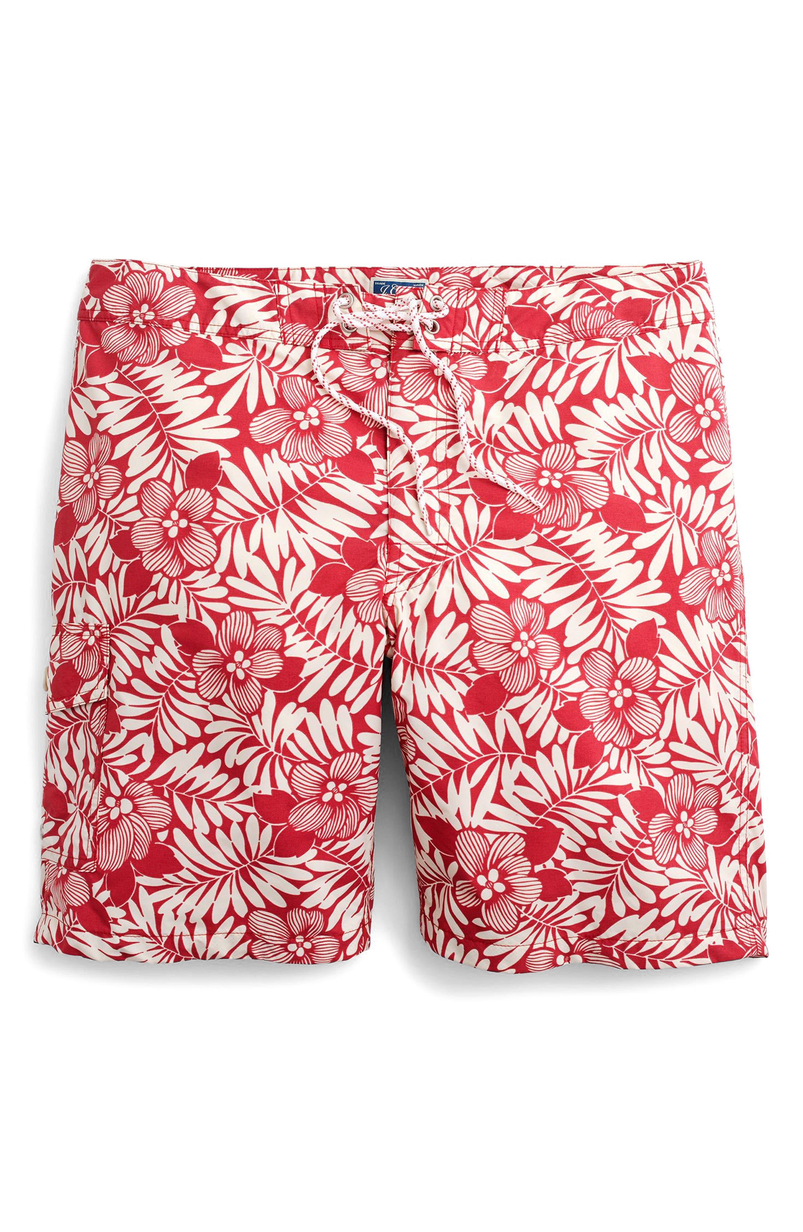 Fern Print Board Shorts,                             Alternate thumbnail 3, color,                             610