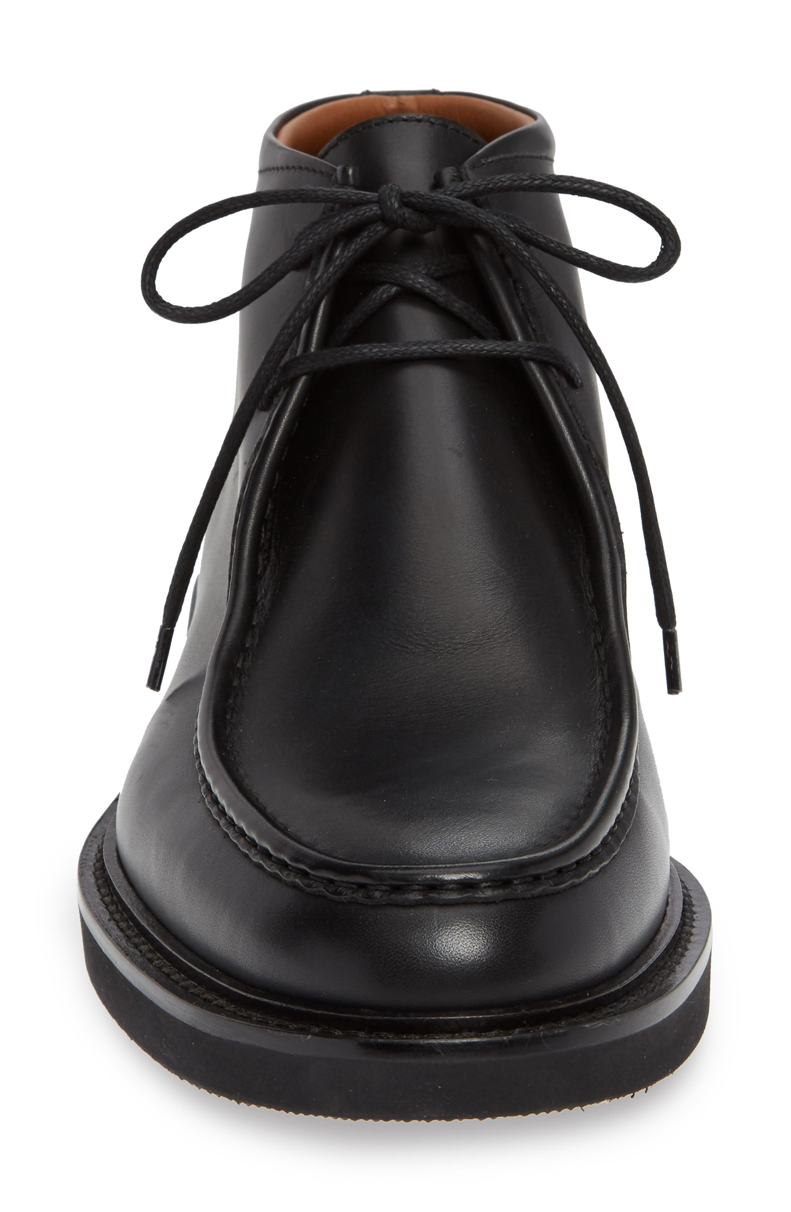 Kyle Weatherproof Chukka Boot,                             Alternate thumbnail 4, color,                             BLACK LEATHER