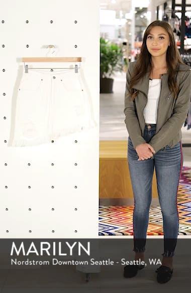 Shimmering Bays Ripped Denim Skirt, sales video thumbnail
