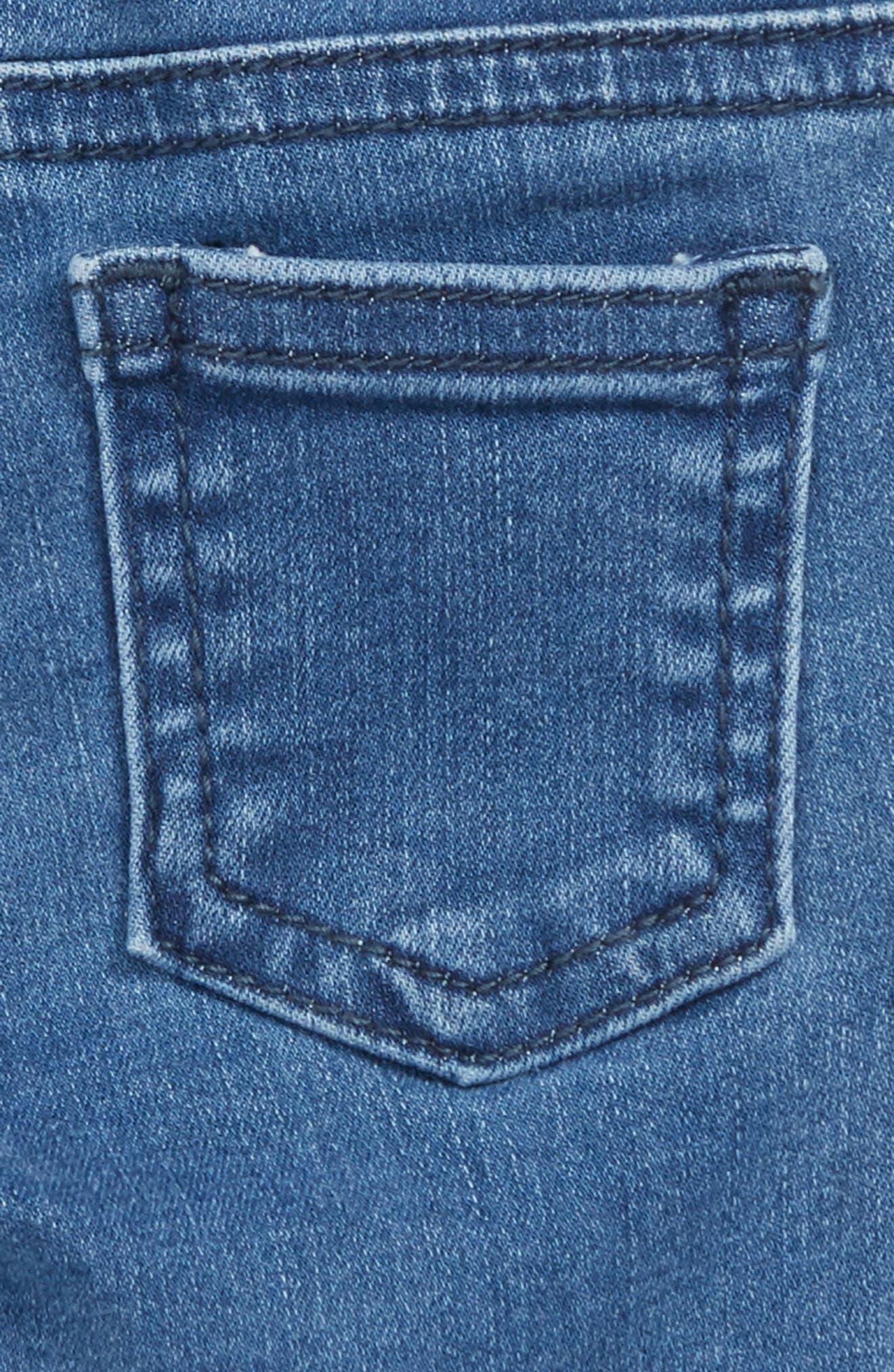 Bob Heart Patch Jeans,                             Alternate thumbnail 3, color,                             BLUE