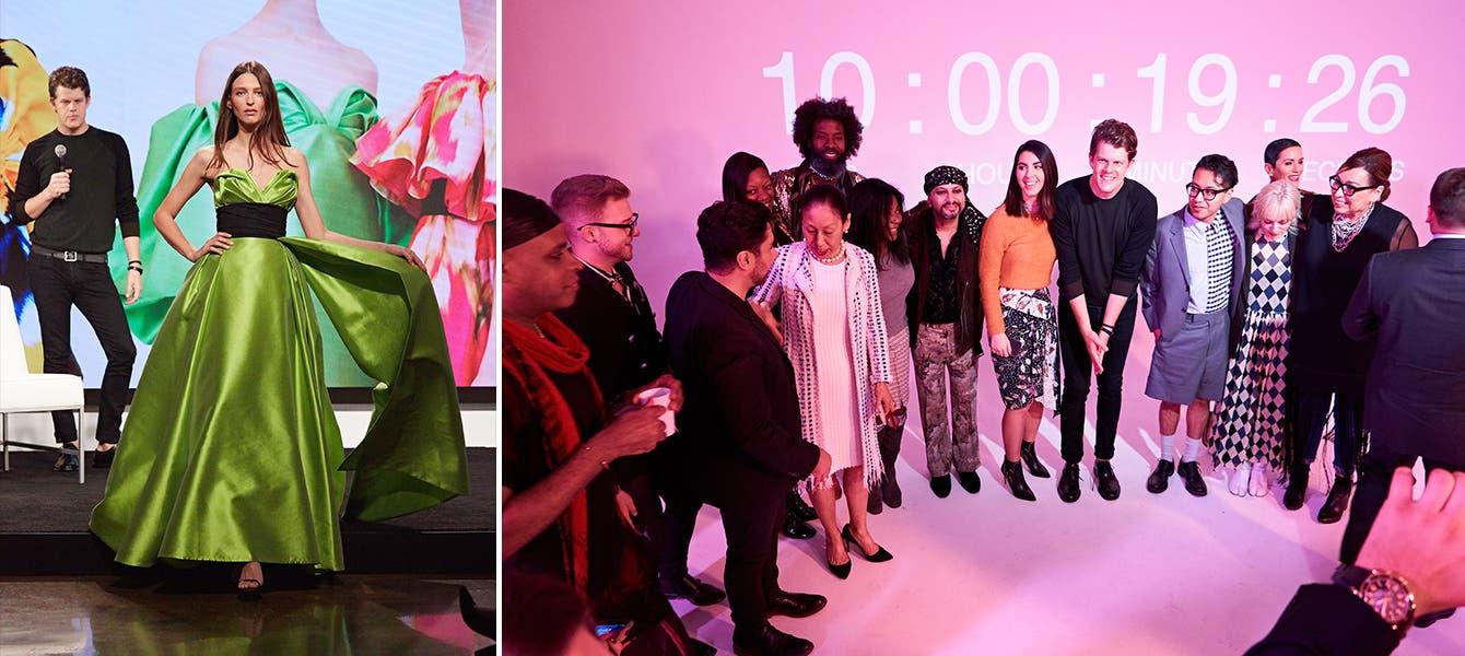 Designer Wes Gordon presents his Carolina Herrera collection at Nordstrom Live.