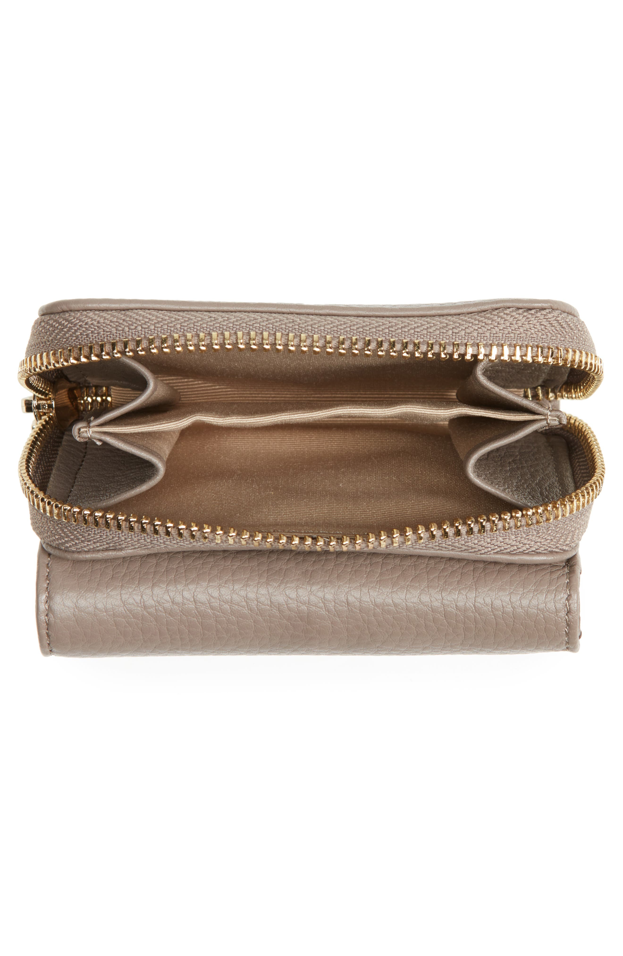 Céline Dion Small Adagio Leather Wallet,                             Alternate thumbnail 7, color,