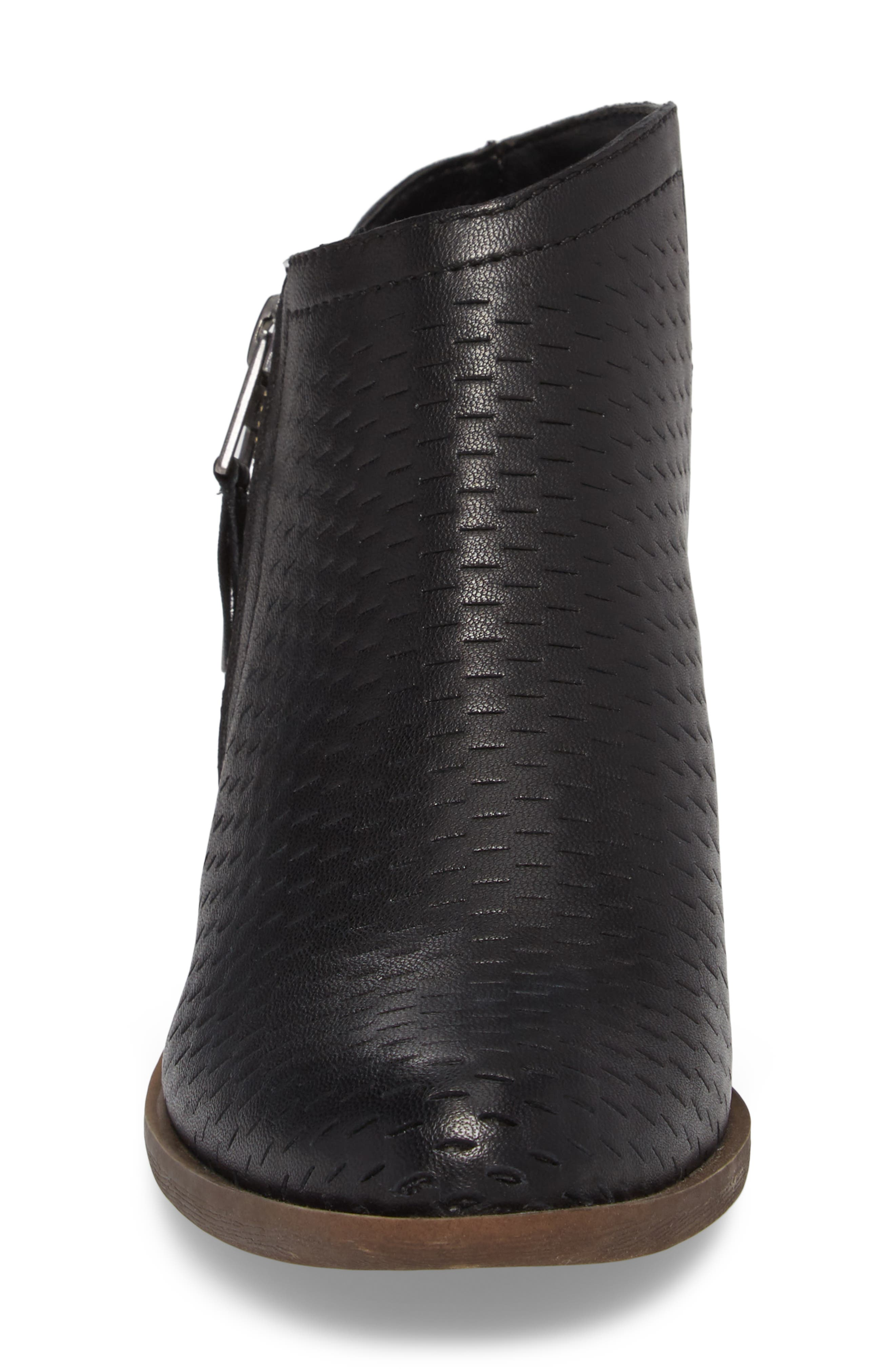 Brielley Perforated Bootie,                             Alternate thumbnail 4, color,                             002