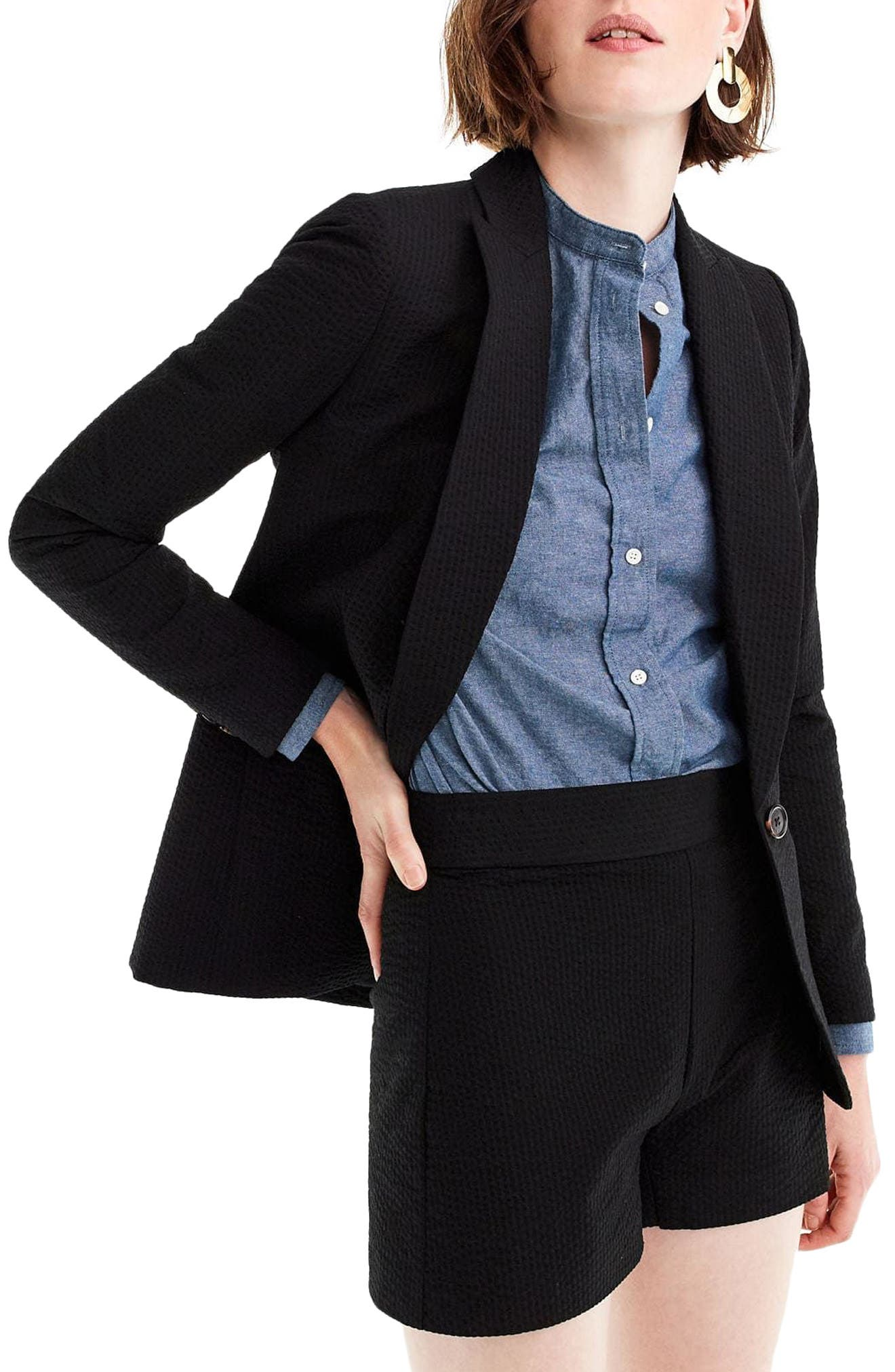Eniko Seersucker Blazer,                             Main thumbnail 1, color,                             001