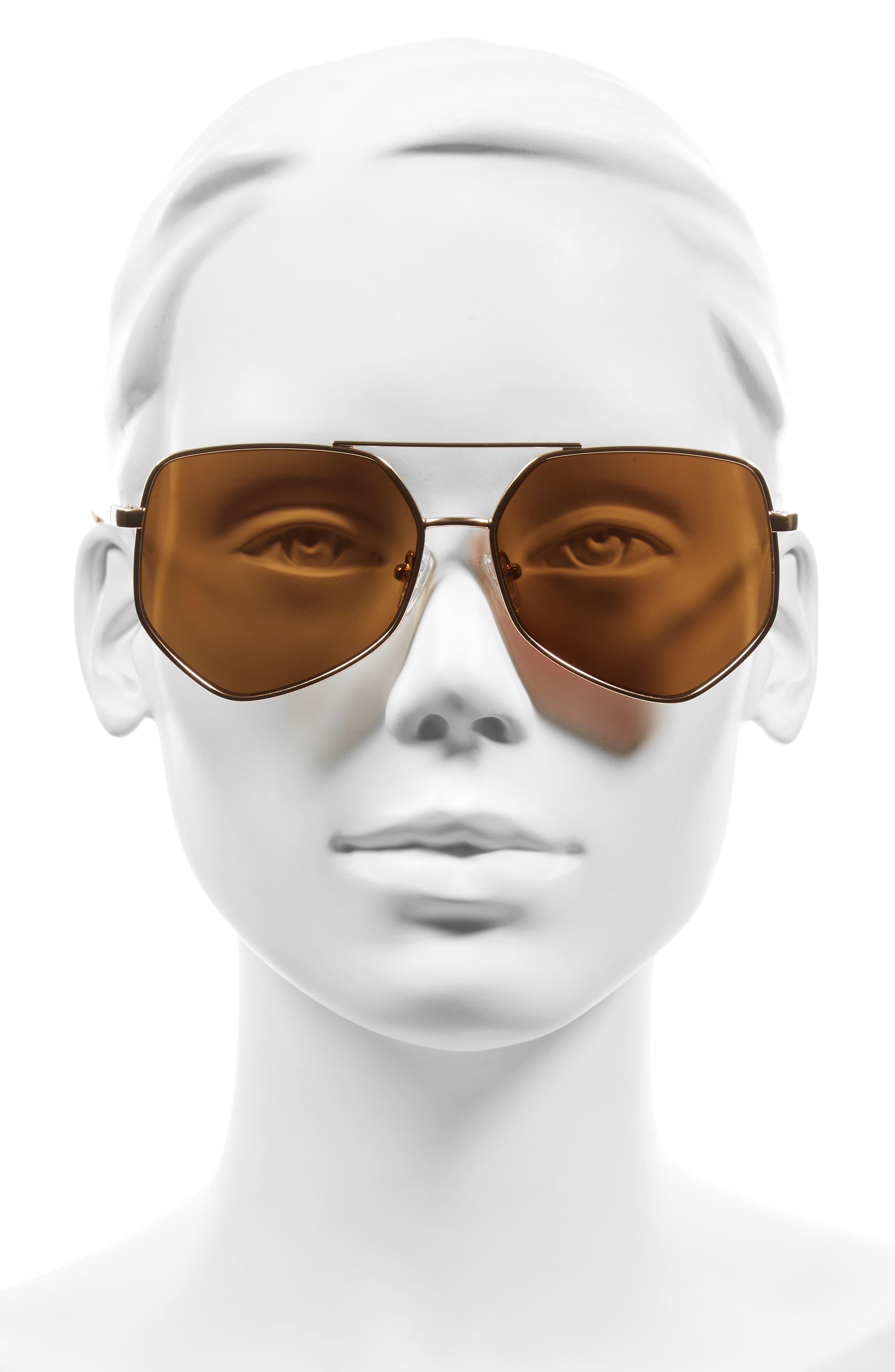 Figueroa 58mm Sunglasses,                             Alternate thumbnail 2, color,                             PALACE GOLD