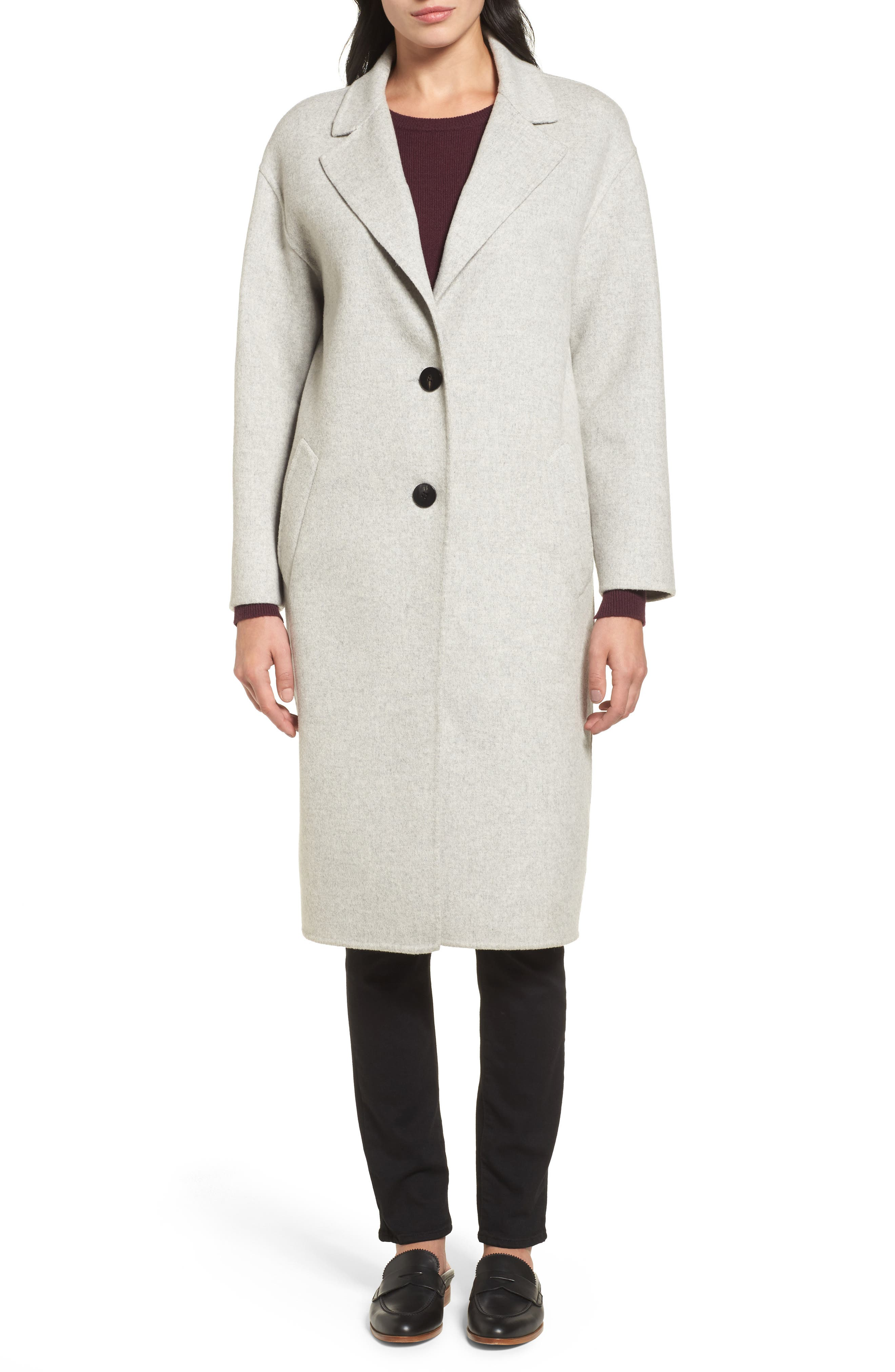 Clean Cocoon Peacoat,                             Alternate thumbnail 4, color,                             050