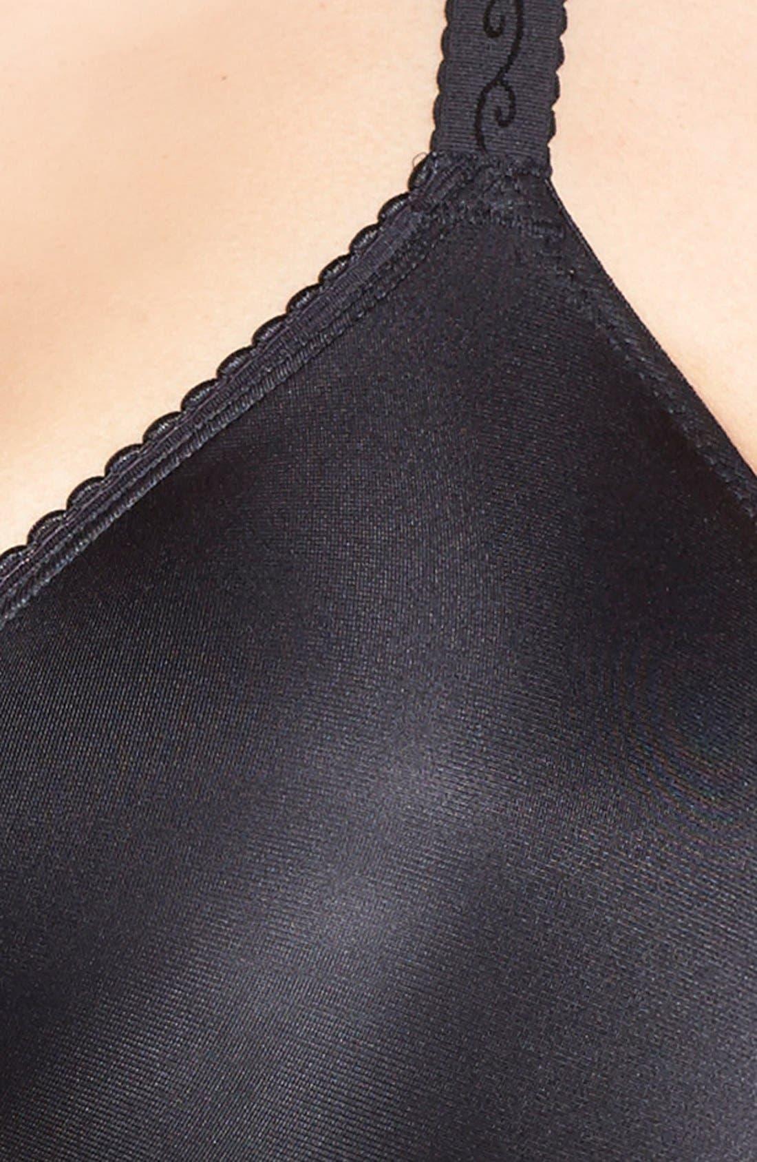 'Simple Shaping' Minimizing Underwire Bra,                             Alternate thumbnail 6, color,                             BLACK