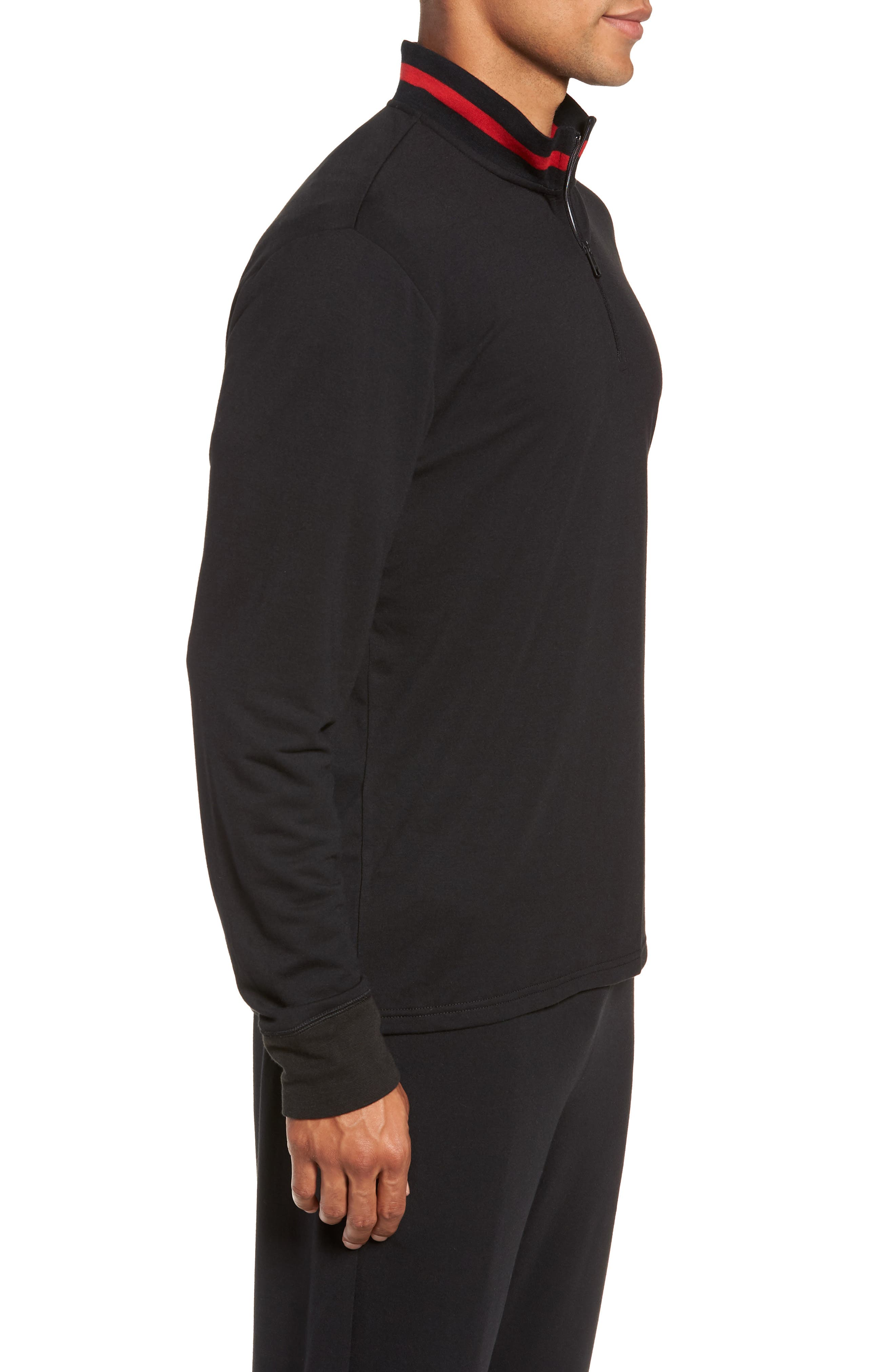 Half-Zip Pullover,                             Alternate thumbnail 3, color,                             POLO BLACK