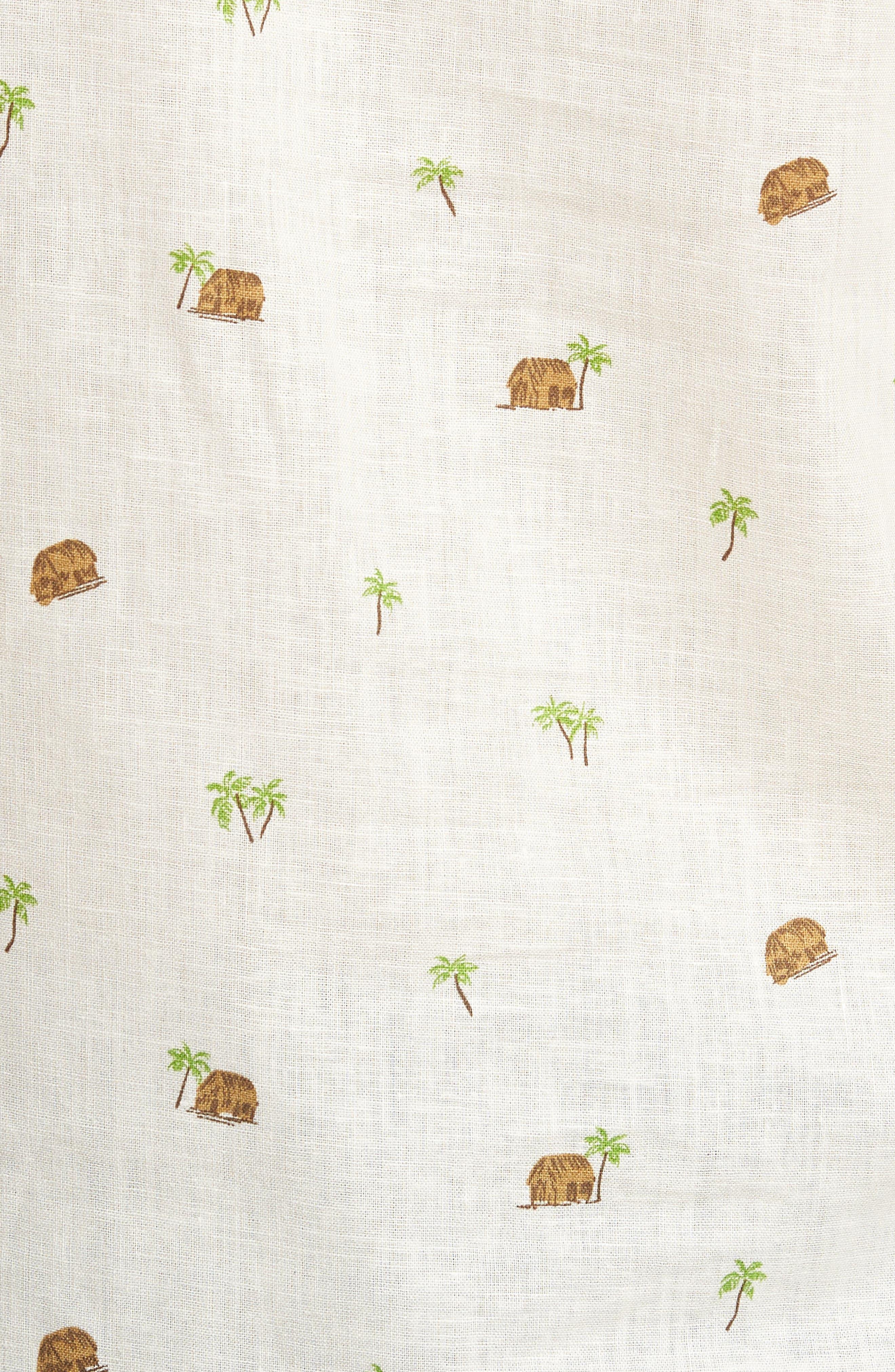 Hale Niu Trim Fit Linen Blend Camp Shirt,                             Alternate thumbnail 5, color,                             102