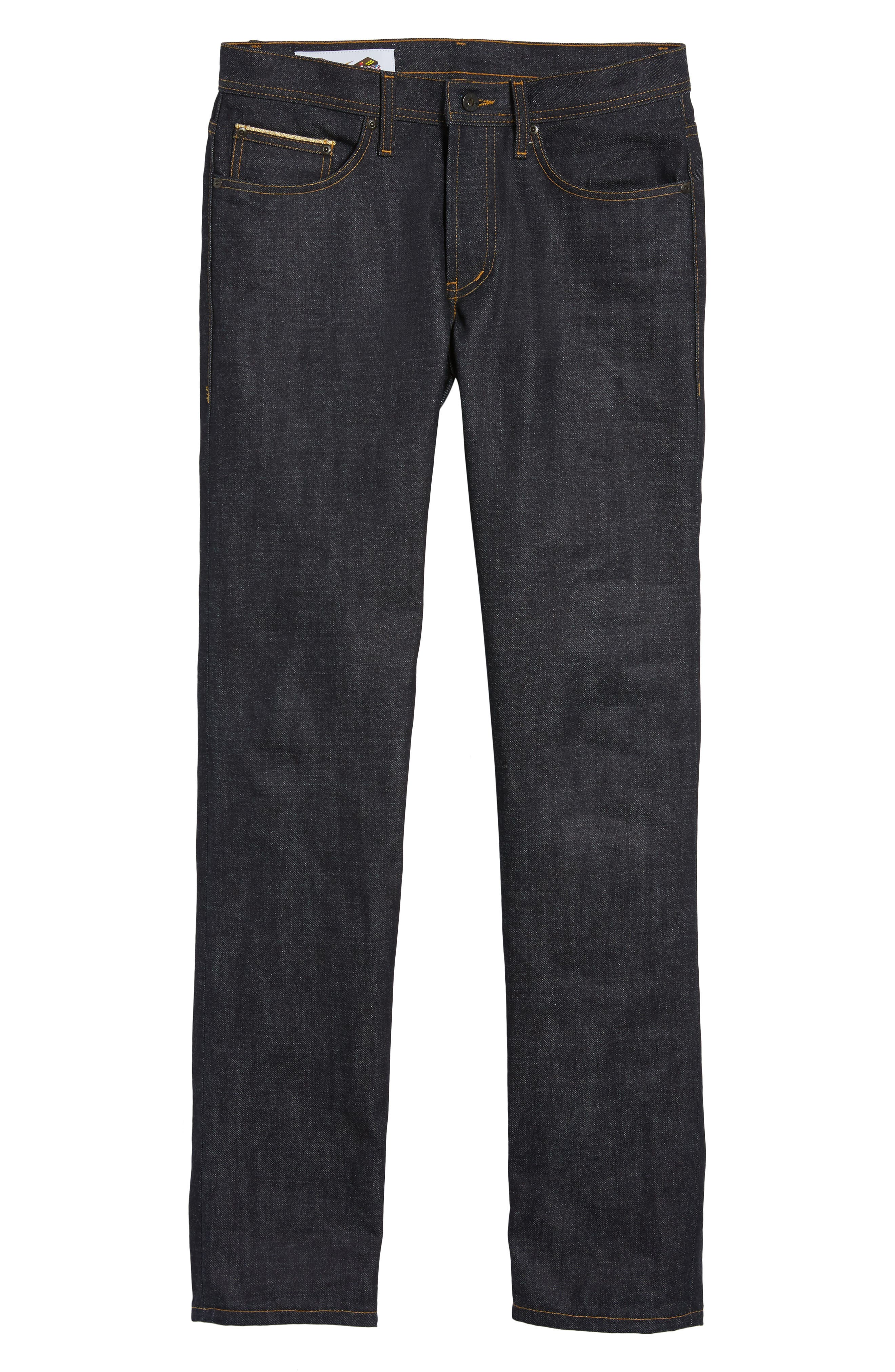 Weird Guy Slim Fit Street Fighter Sonic Boom Selvedge Jeans,                             Alternate thumbnail 6, color,                             400