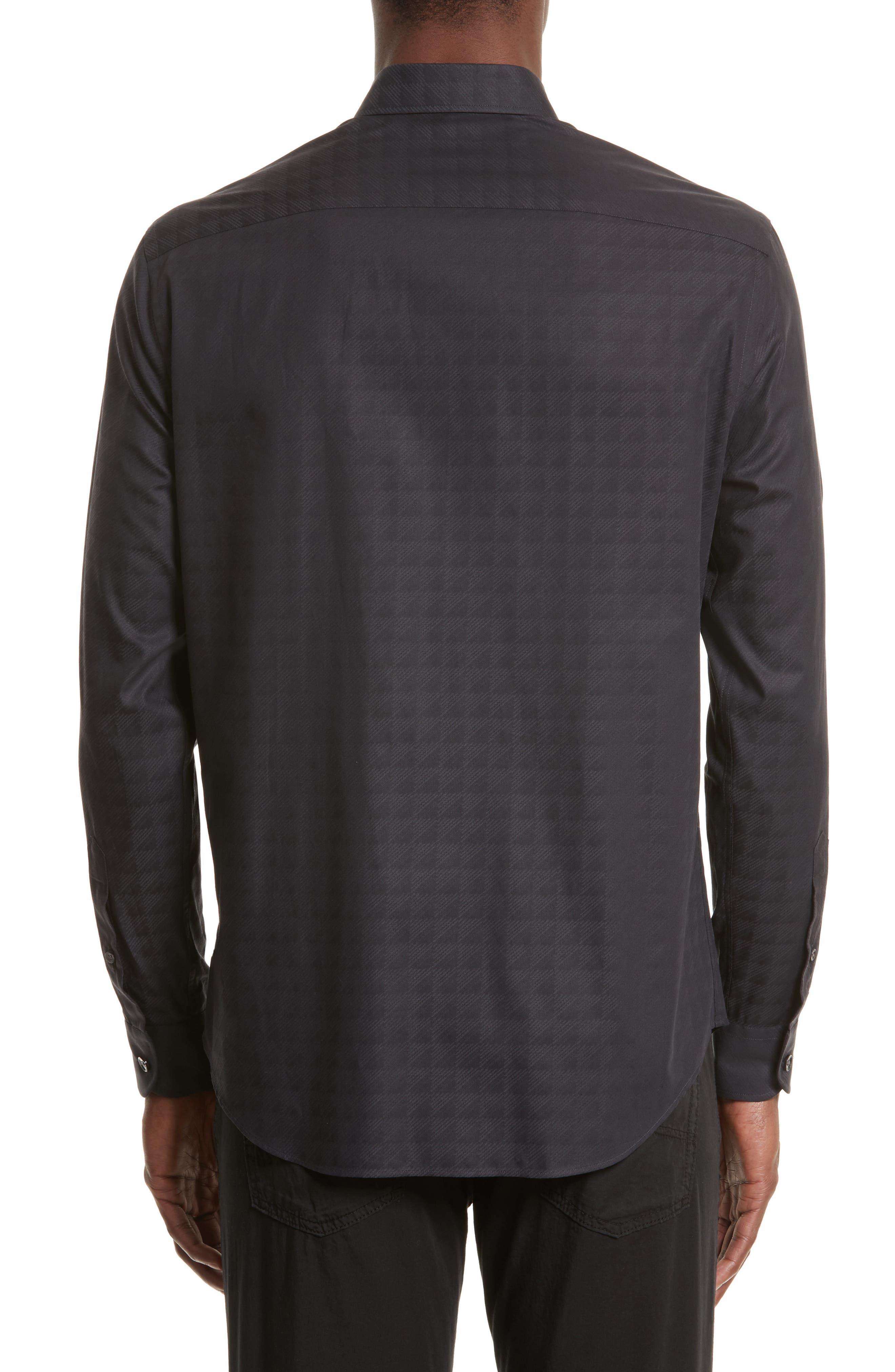 Regular Fit Geo Print Sport Shirt,                             Alternate thumbnail 2, color,                             001