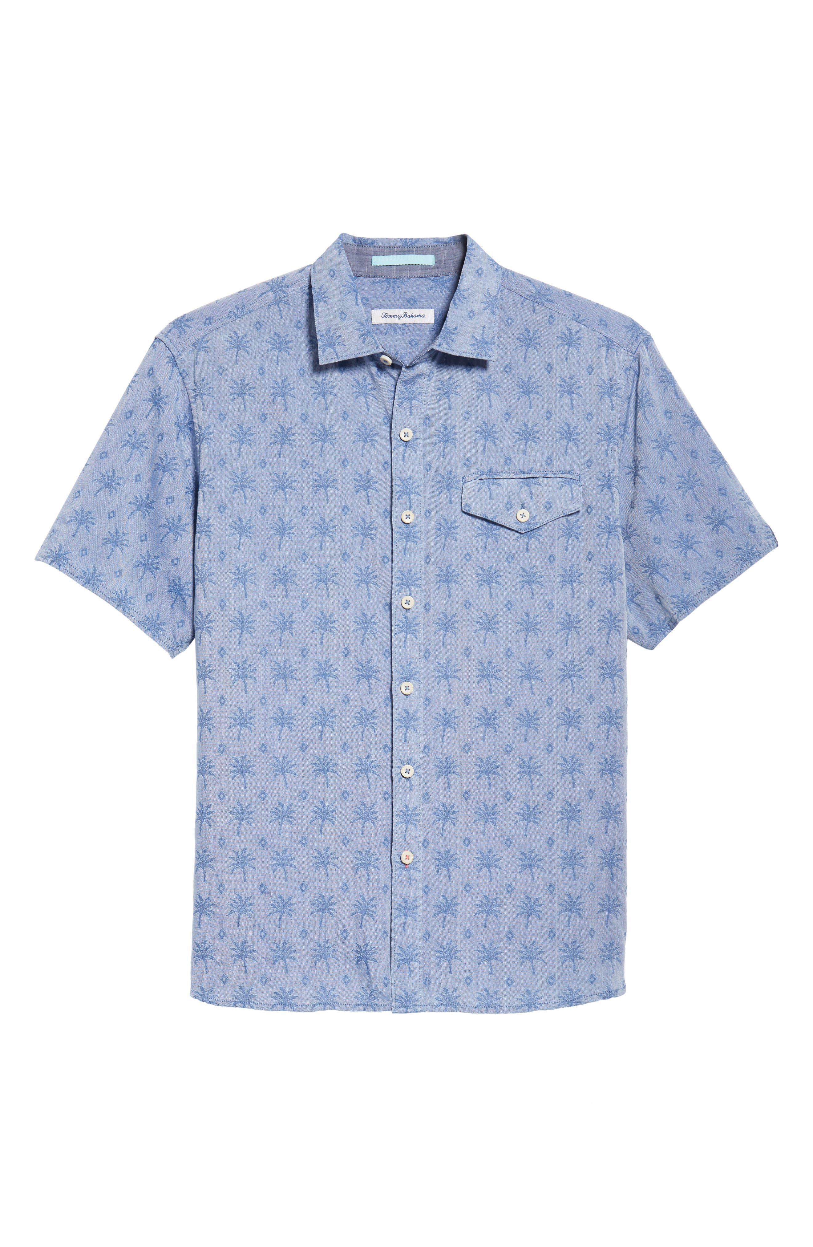 Palm Palm Regular Fit Jacquard Sport Shirt,                             Alternate thumbnail 6, color,                             400