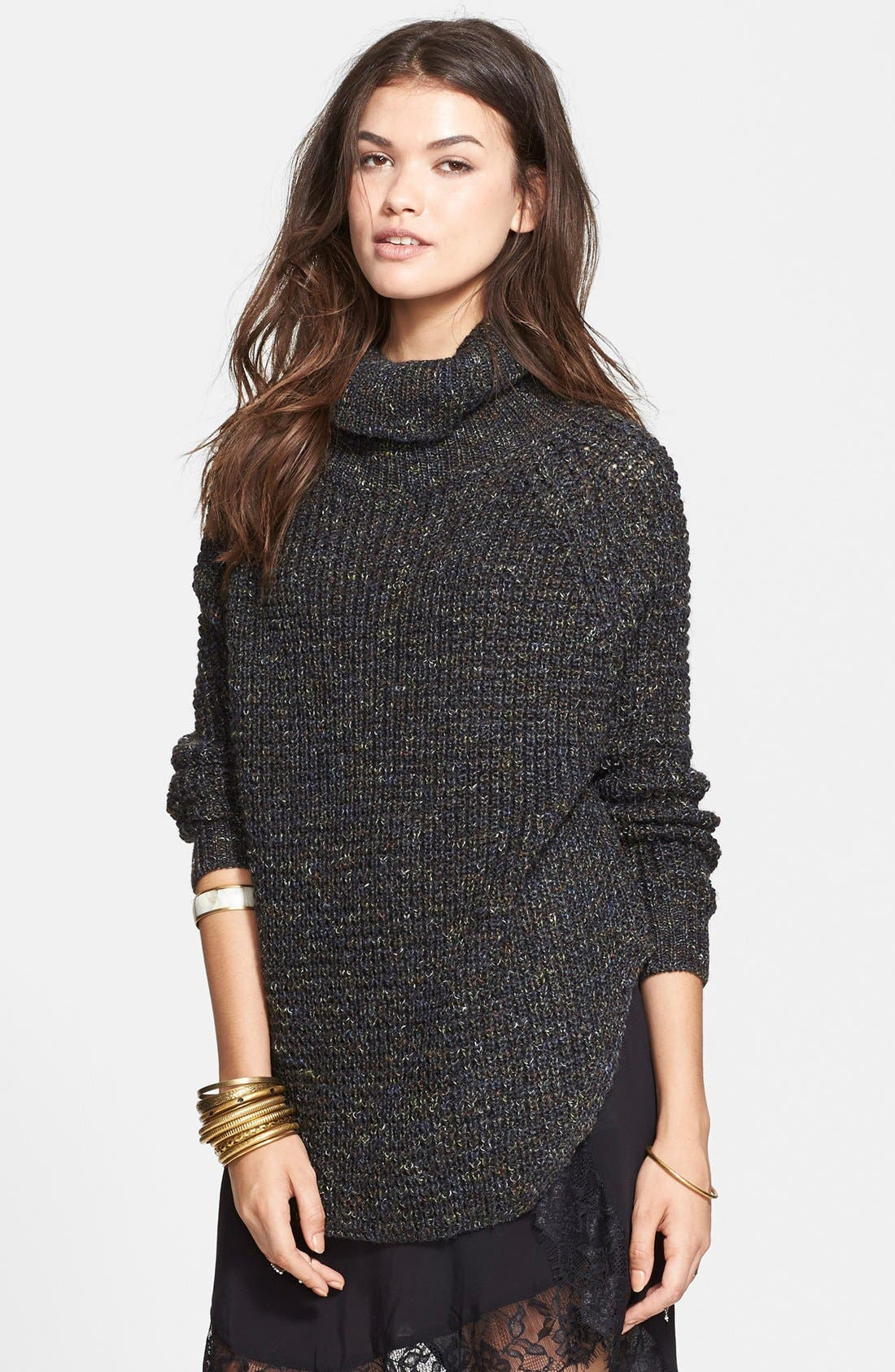 FREE PEOPLE Turtleneck Pullover, Main, color, 020
