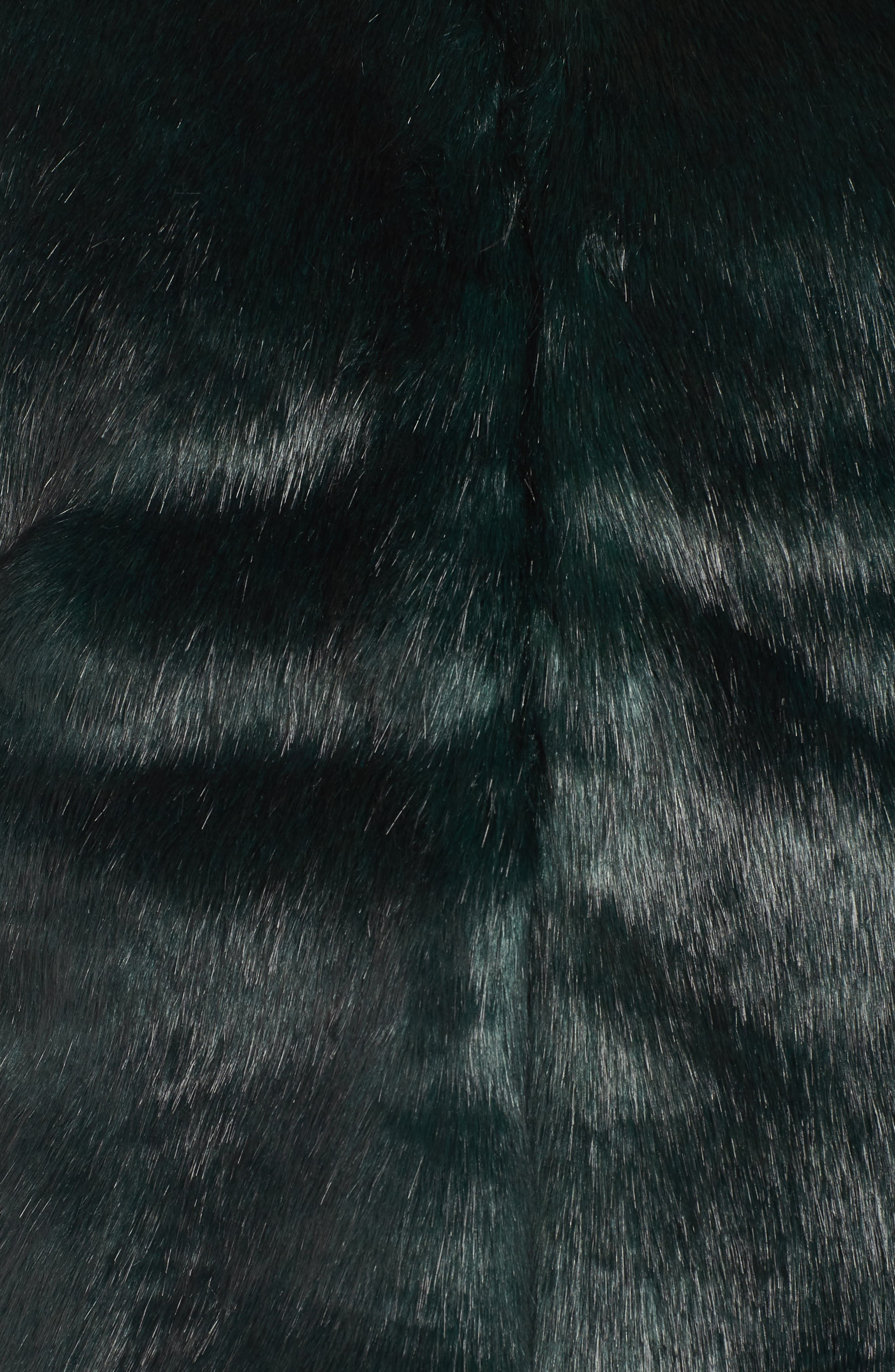 Faux Fur Jacket,                             Alternate thumbnail 7, color,                             GREEN
