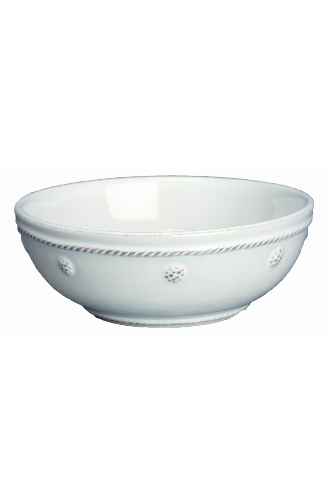 'Berry and Thread' Coupe Bowl,                             Main thumbnail 1, color,                             WHITEWASH