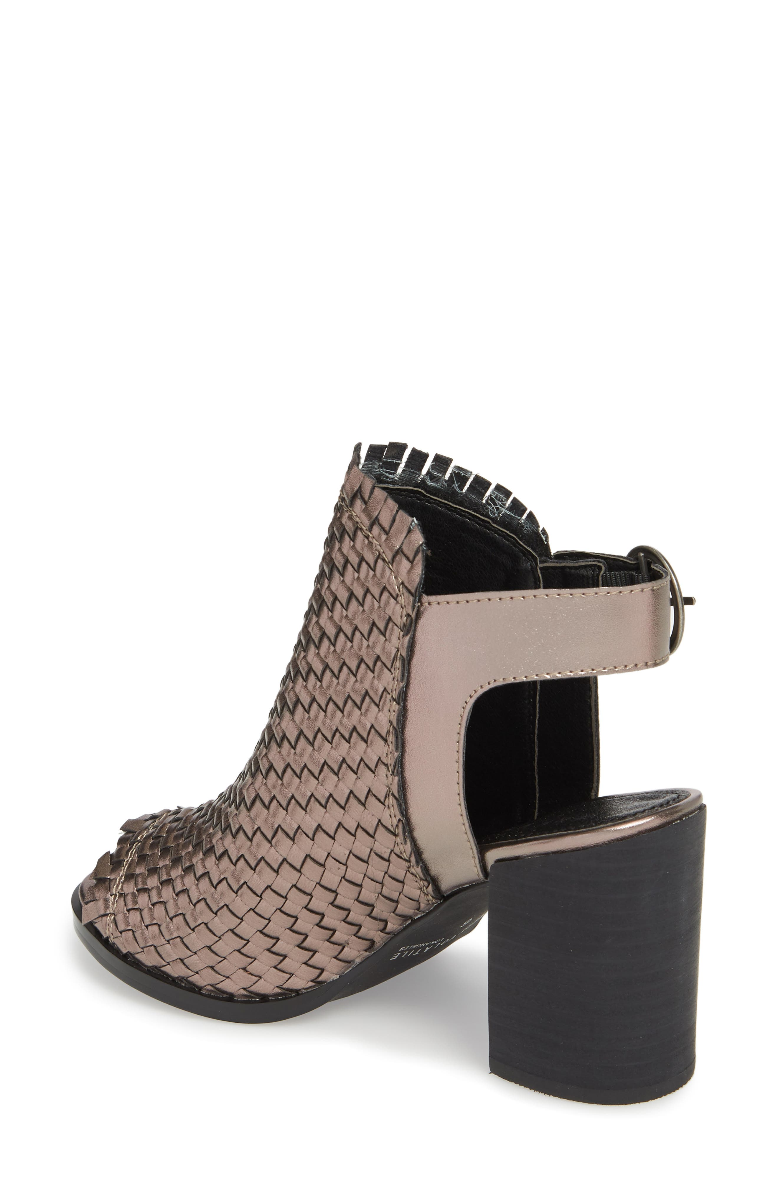 Starla Woven Sandal,                             Alternate thumbnail 2, color,                             PEWTER