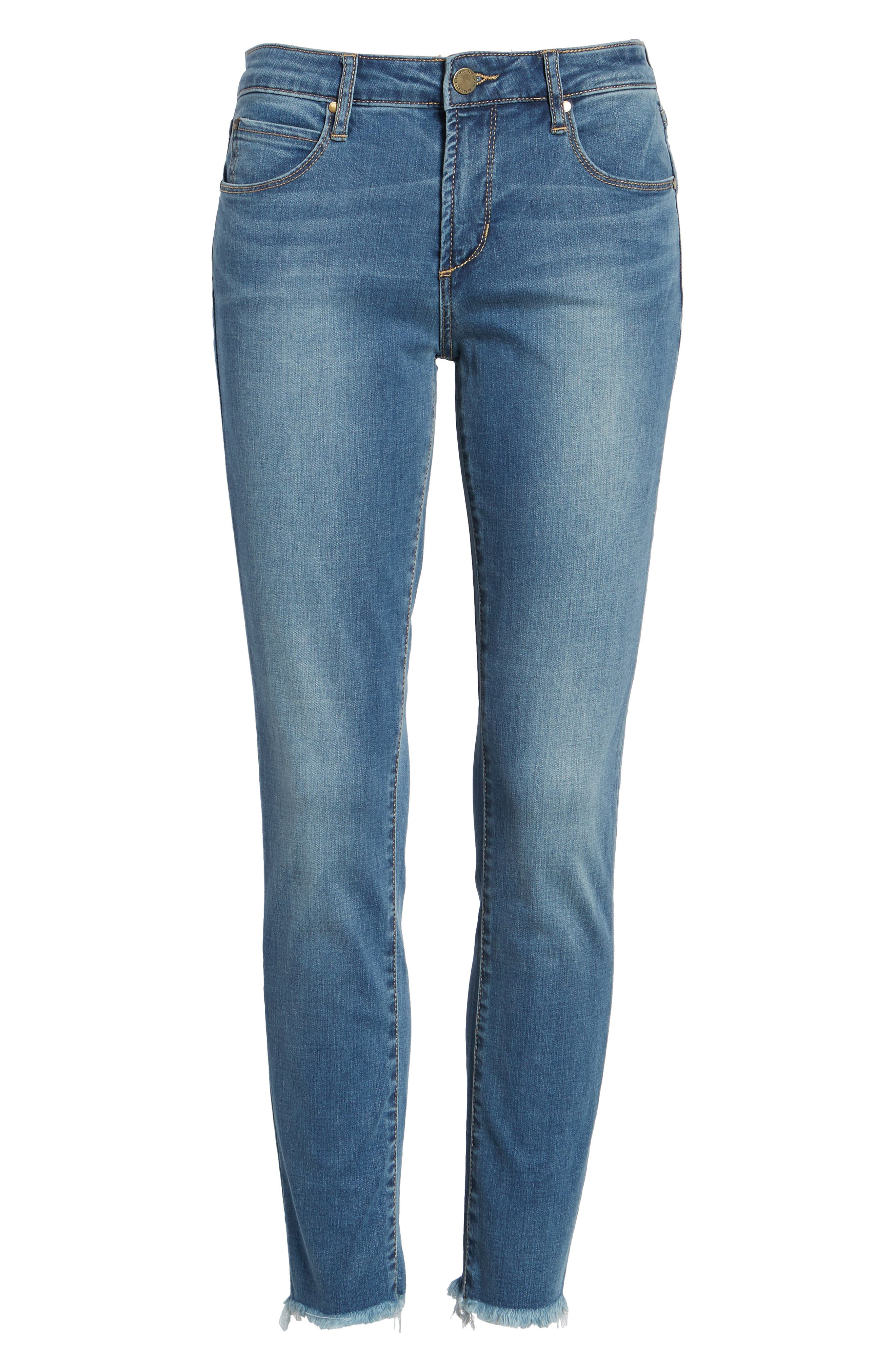 Carly Crop Skinny Jeans,                             Alternate thumbnail 6, color,                             498