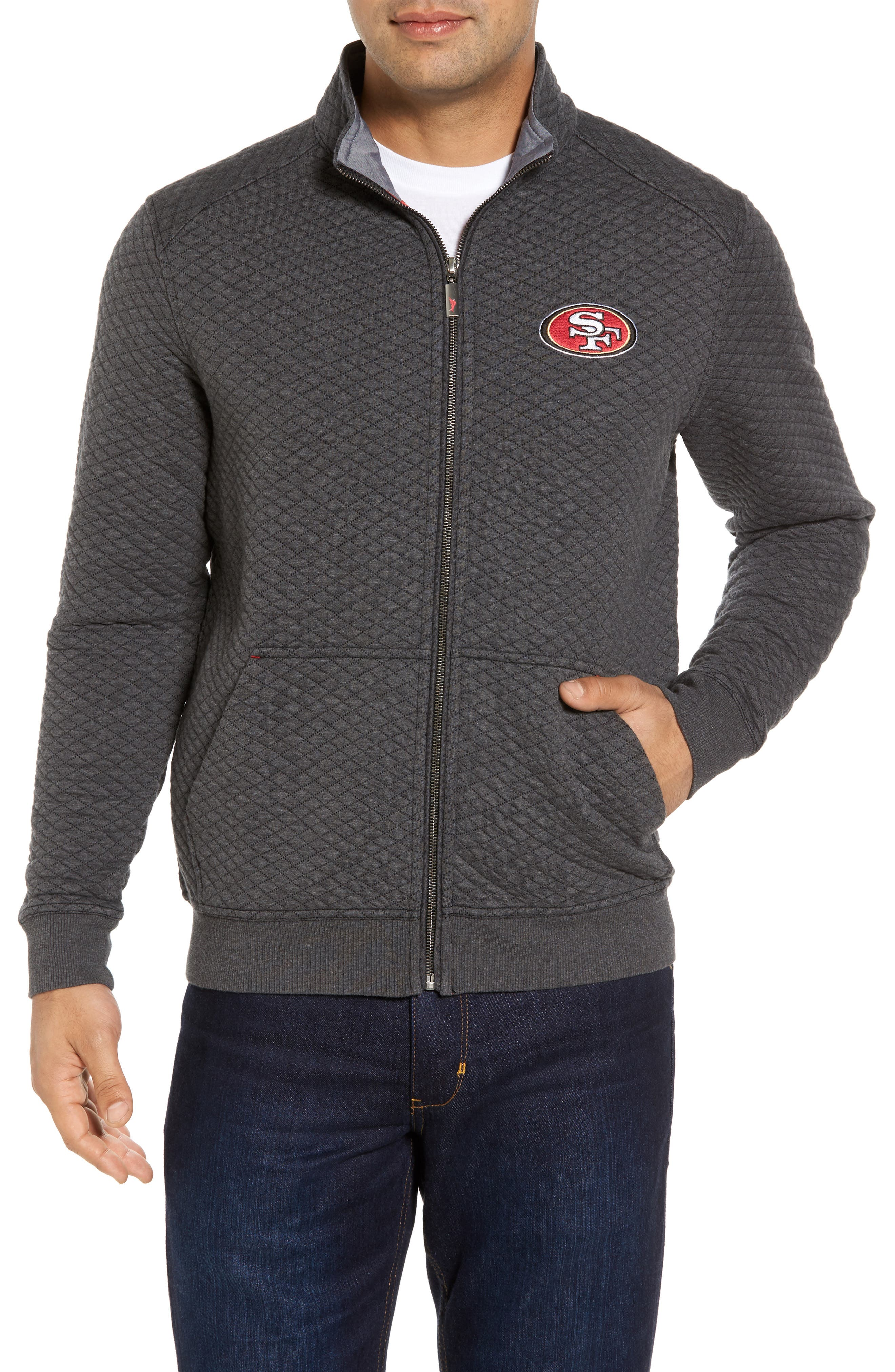 NFL Quiltessential Full Zip Sweatshirt,                             Main thumbnail 1, color,