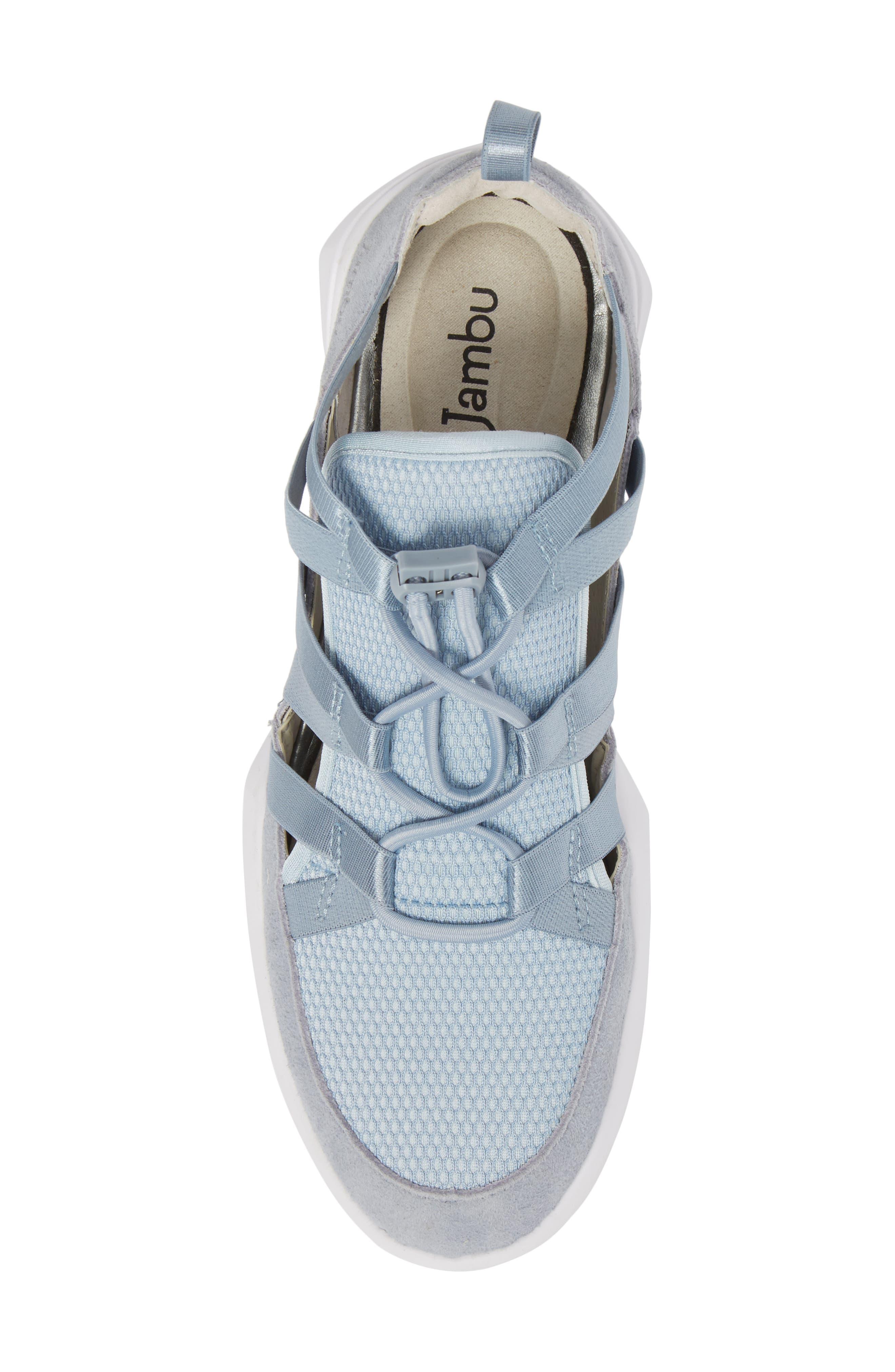 Azalea Sneaker,                             Alternate thumbnail 5, color,                             BLUE LEATHER