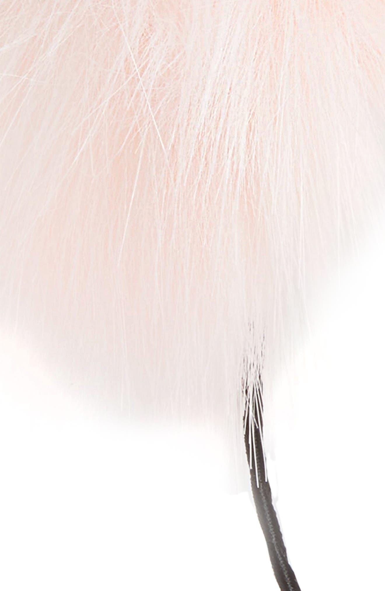 Faux Fur Pom Headband,                             Alternate thumbnail 3, color,