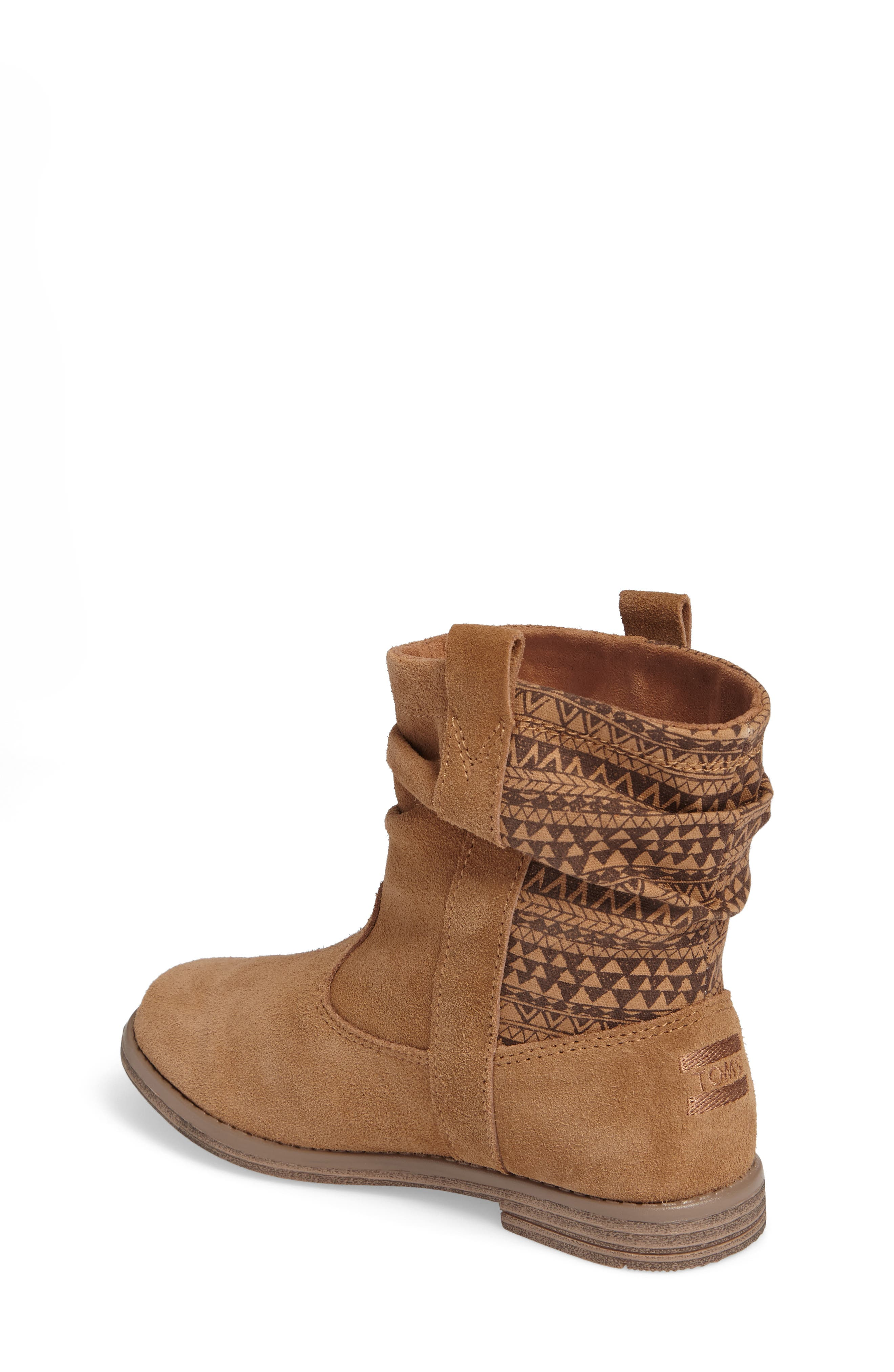 Laurel Slouchy Bootie,                             Alternate thumbnail 2, color,                             TOFFEE SUEDE