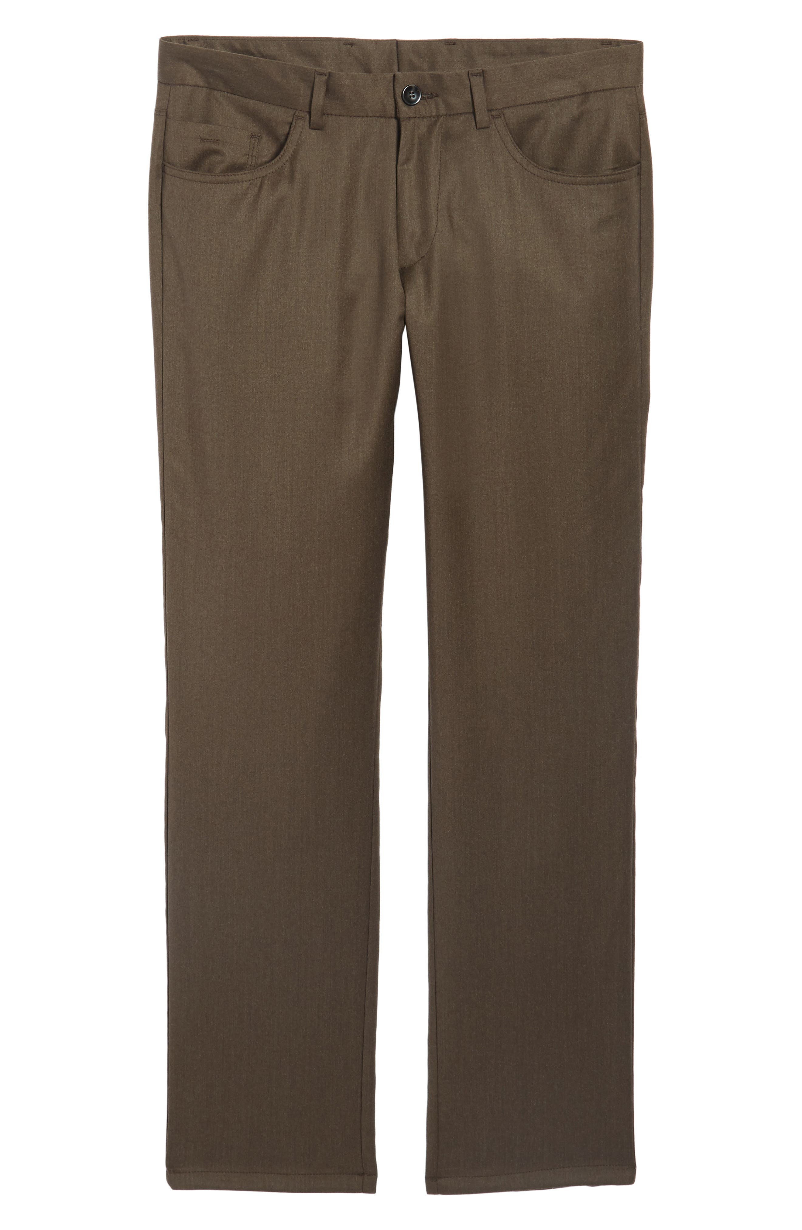 Flat Front Solid Stretch Wool Trousers,                             Alternate thumbnail 17, color,