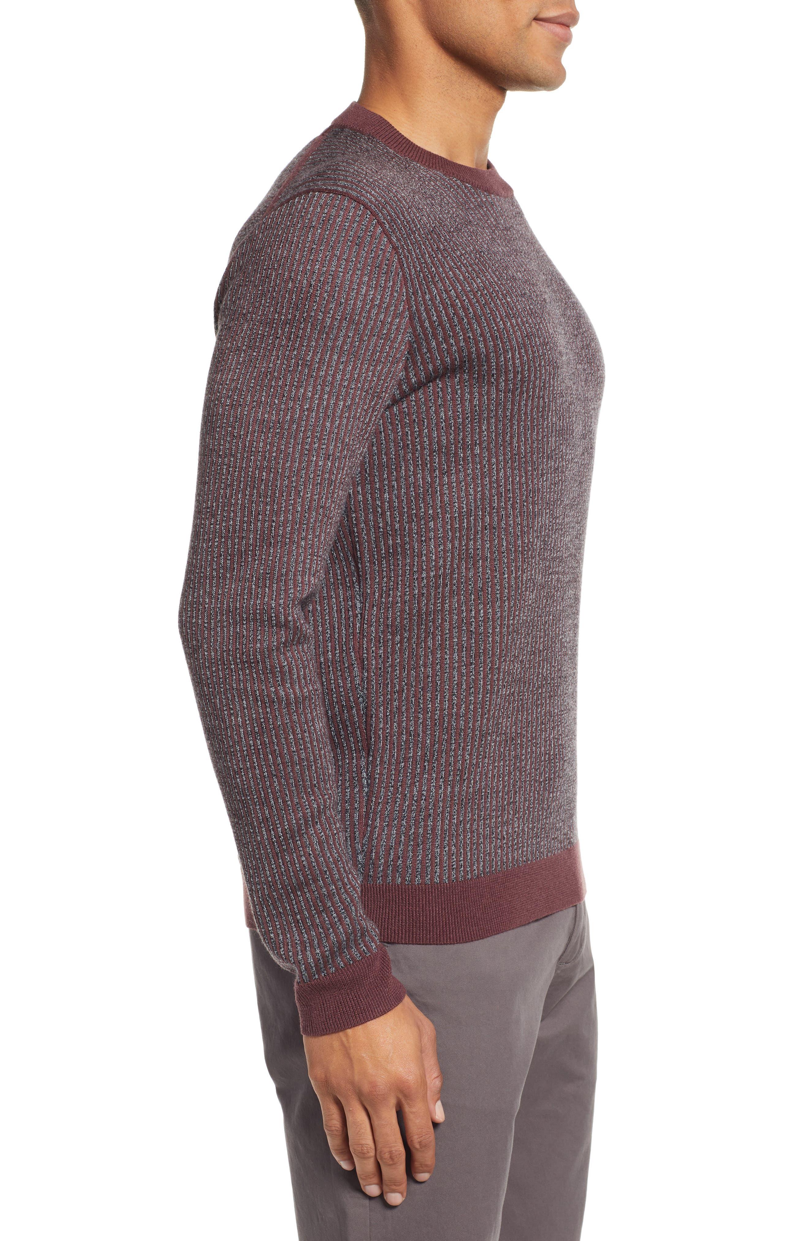 Jinxitt Crewneck Sweater,                             Alternate thumbnail 3, color,                             DEEP-PINK