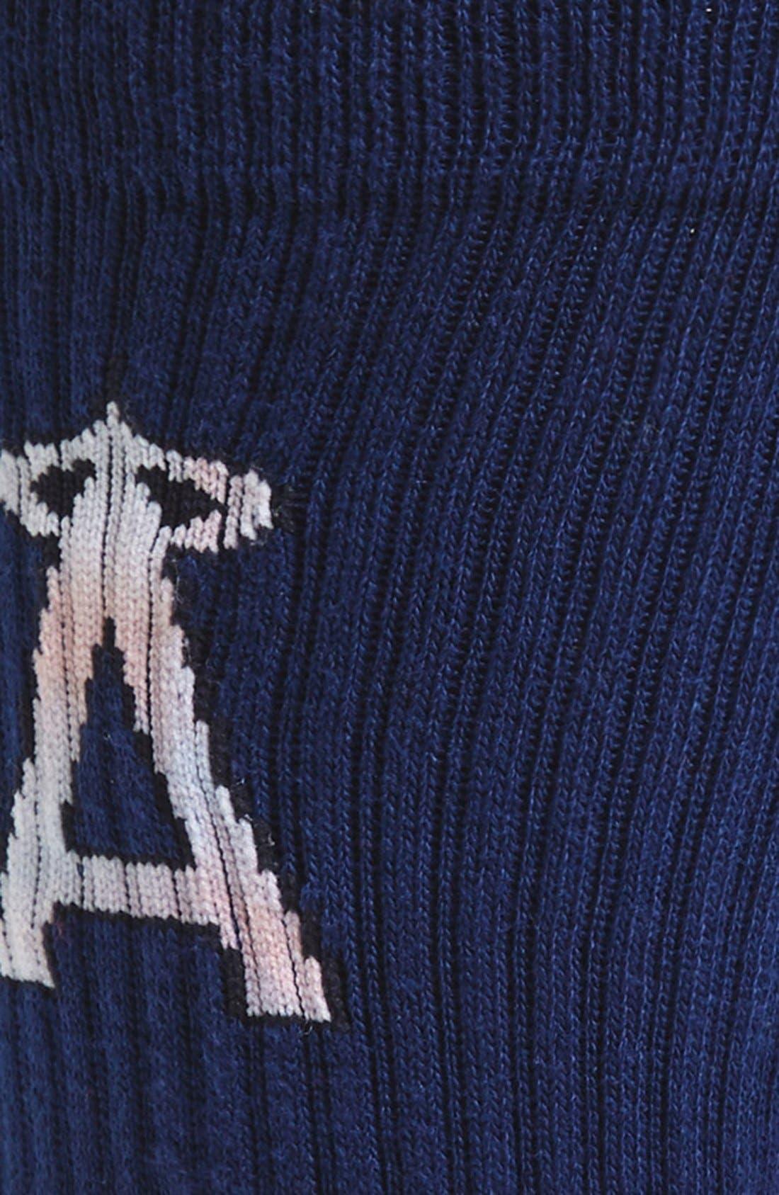 MLB Tye Dye Summer League Angels Crew Socks,                             Alternate thumbnail 2, color,                             410