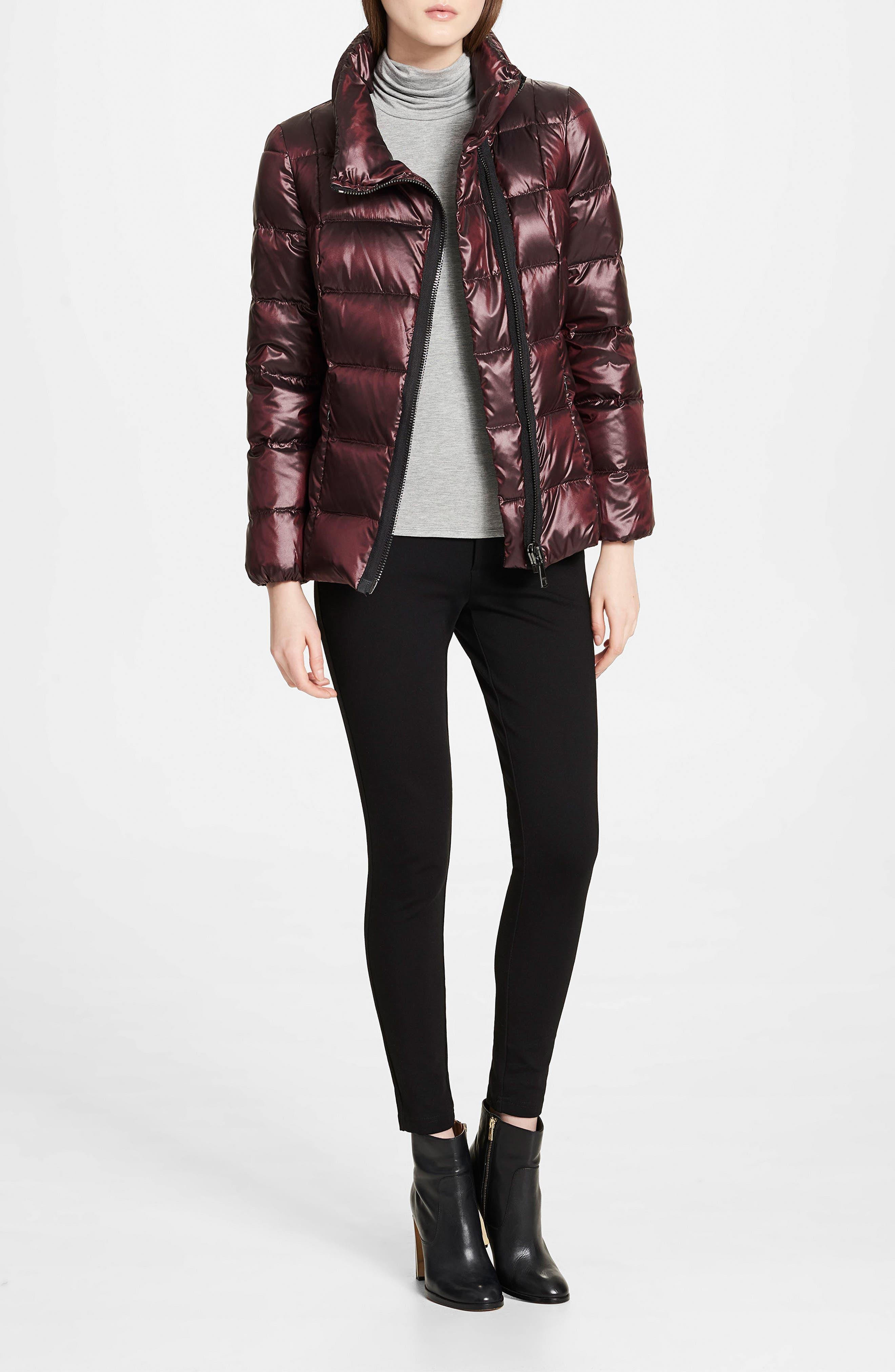 Asymmetrical Zip Down Jacket,                             Alternate thumbnail 6, color,