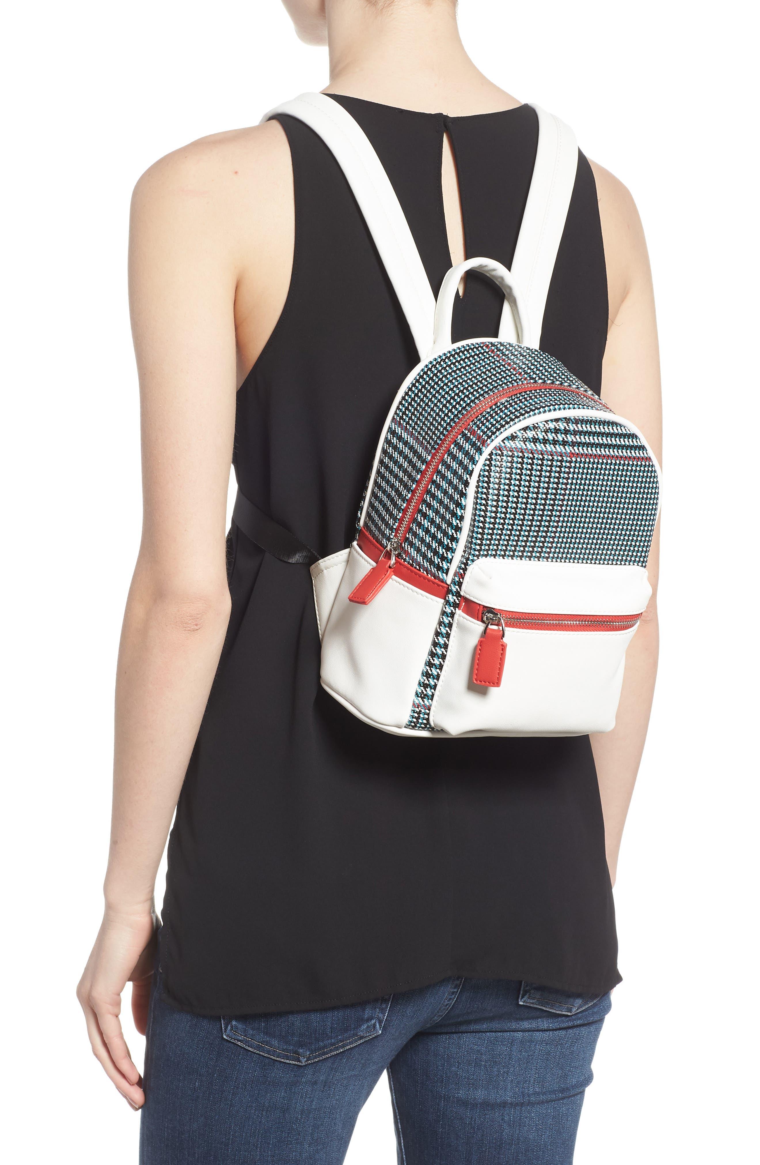Woven Mini Backpack,                             Alternate thumbnail 2, color,                             BLUE MULTI