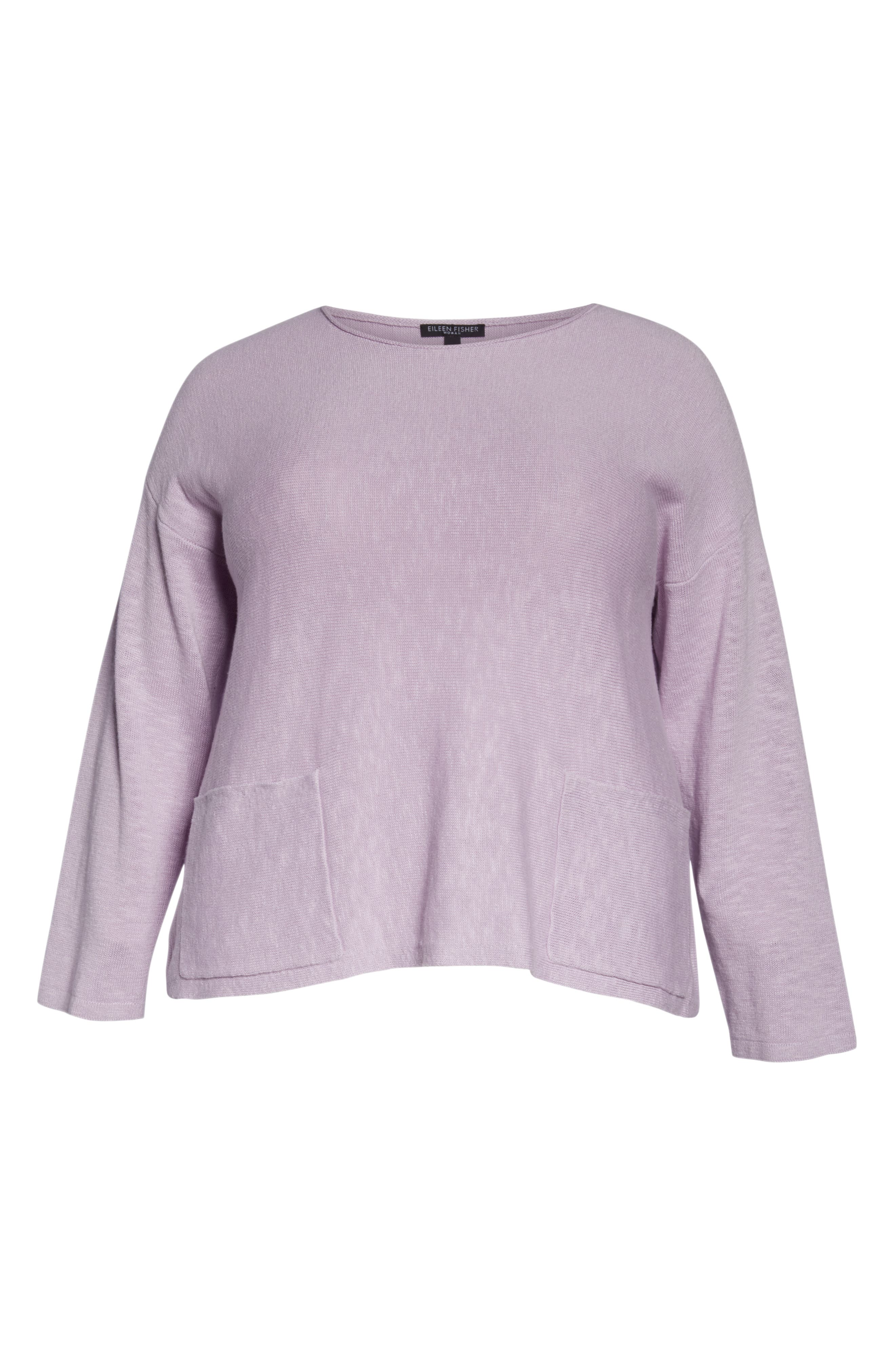 Round Neck Sweater,                             Alternate thumbnail 6, color,                             MALLOW
