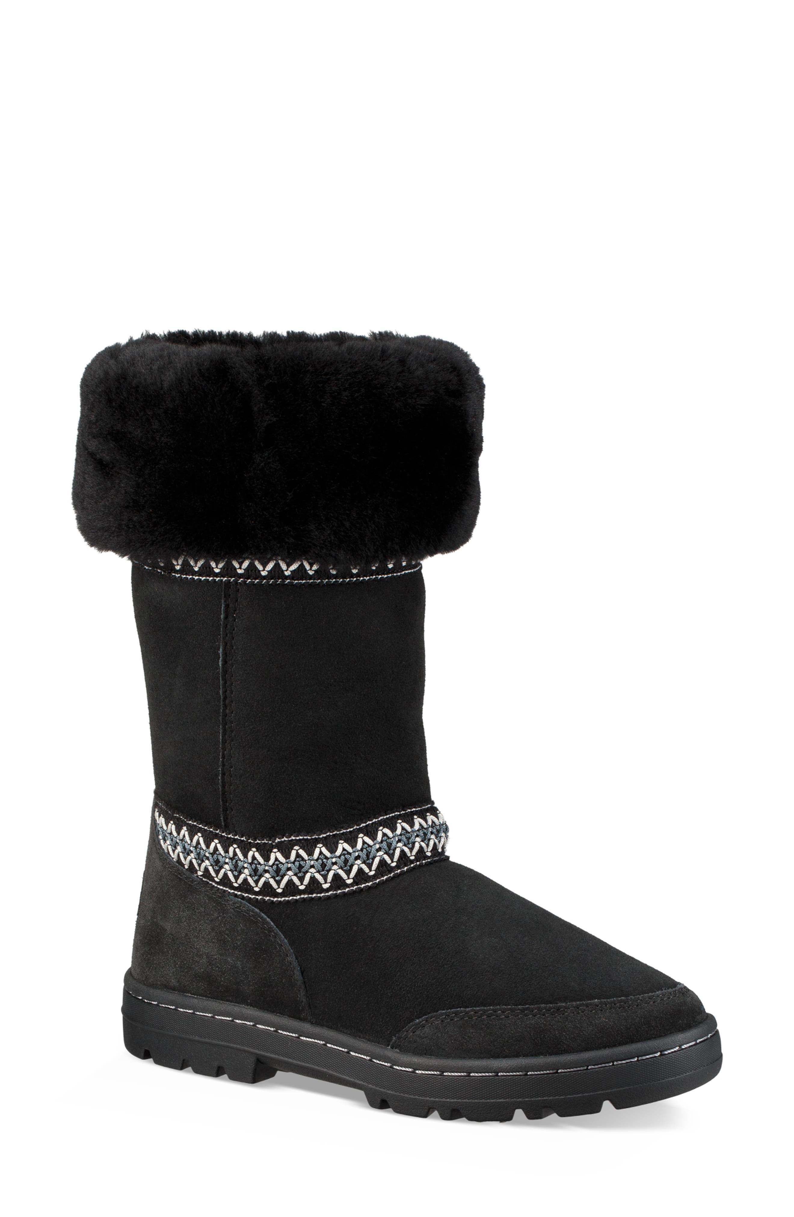 Sundance Revival Genuine Shearling Boot,                             Alternate thumbnail 2, color,                             BLACK