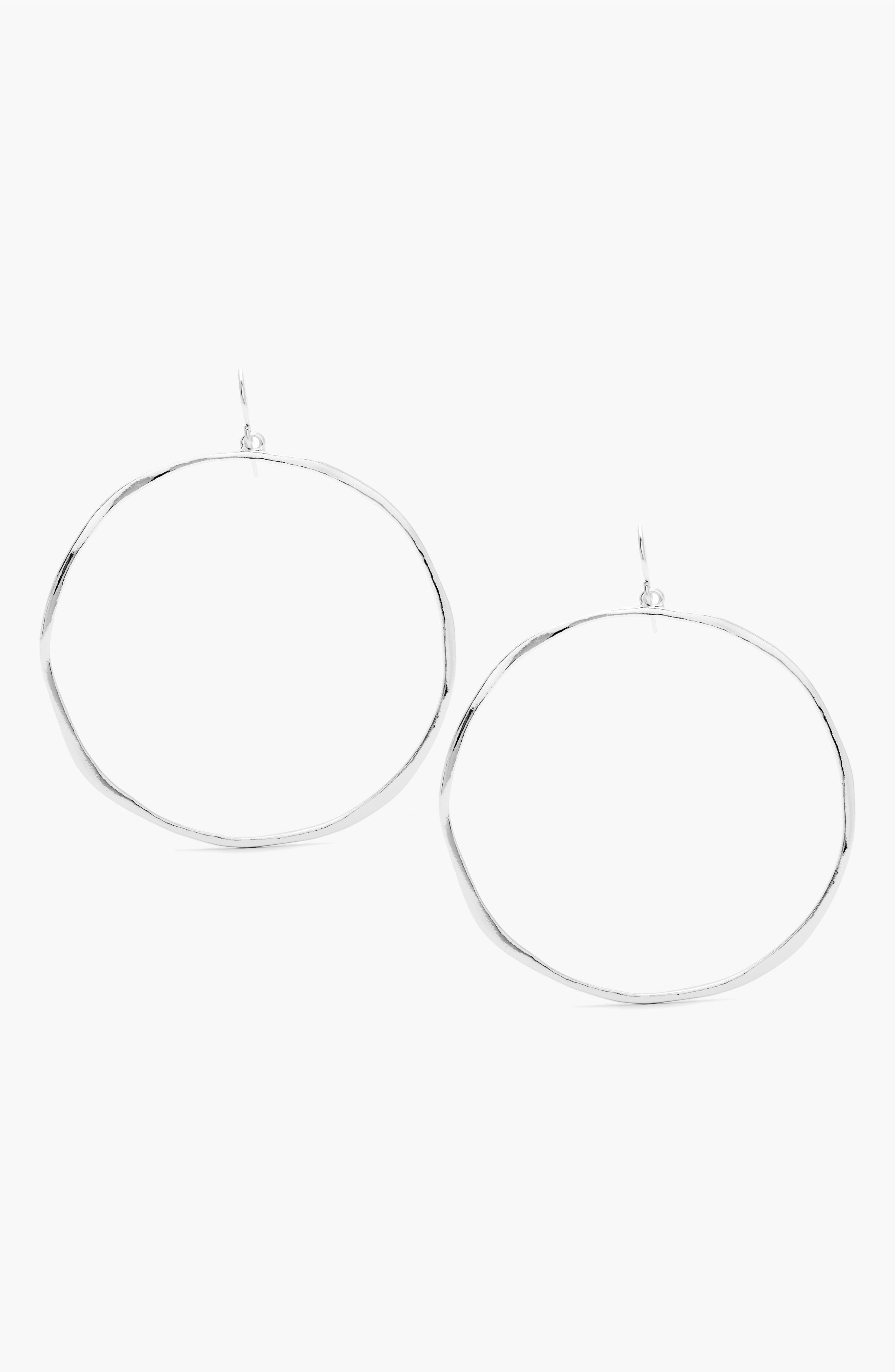 G Ring Hoops,                             Alternate thumbnail 4, color,                             SILVER