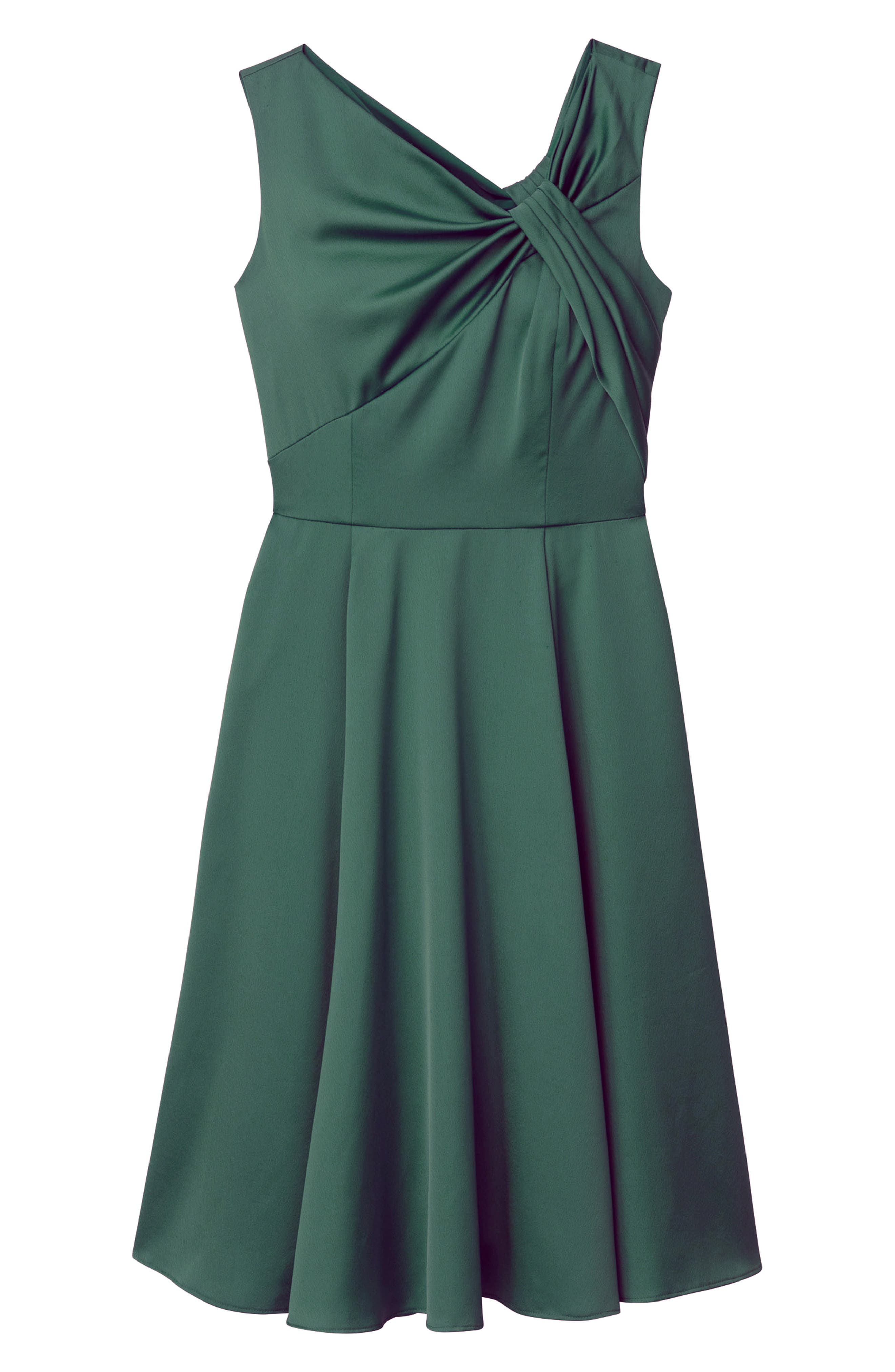 Noelle Twist Neck Satin Dress,                             Alternate thumbnail 4, color,                             306