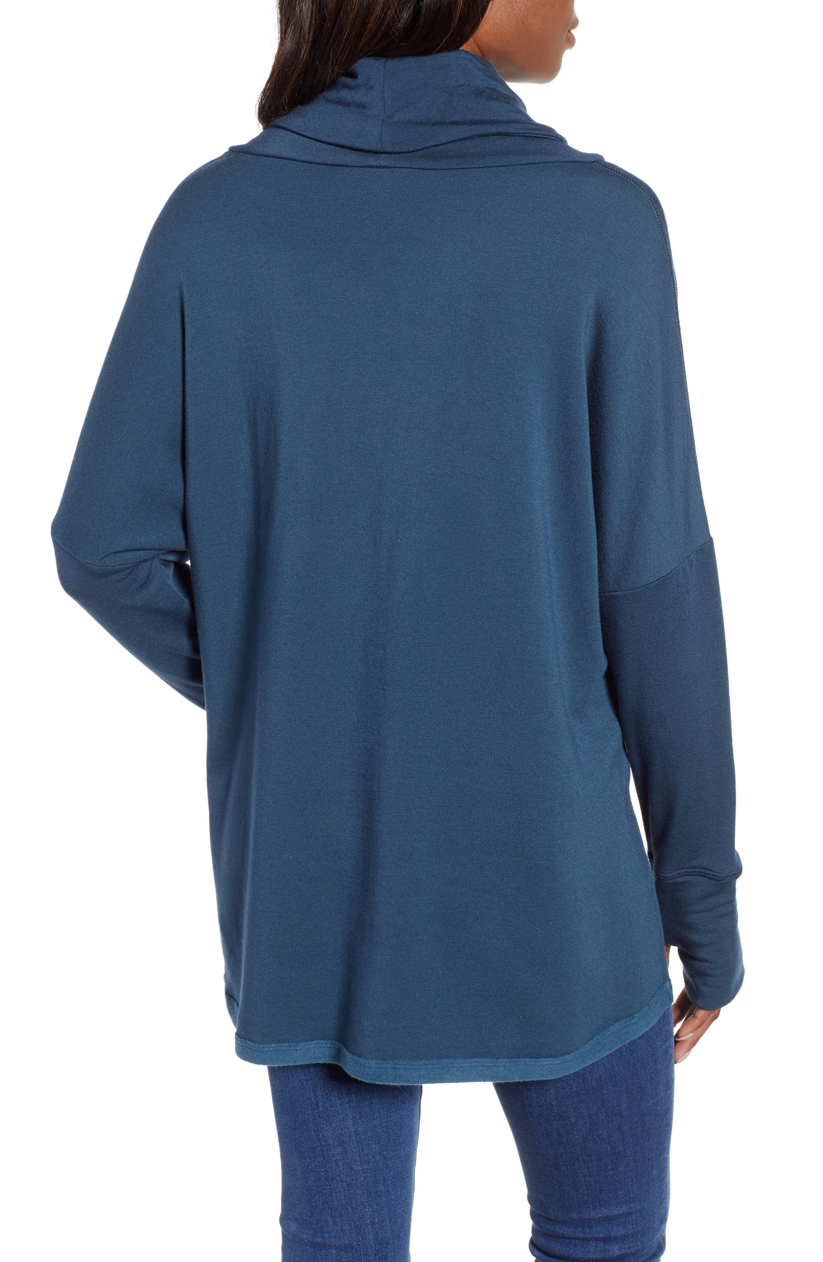 Off-Duty Funnel Neck Sweatshirt,                             Alternate thumbnail 2, color,                             TEAL ABYSS