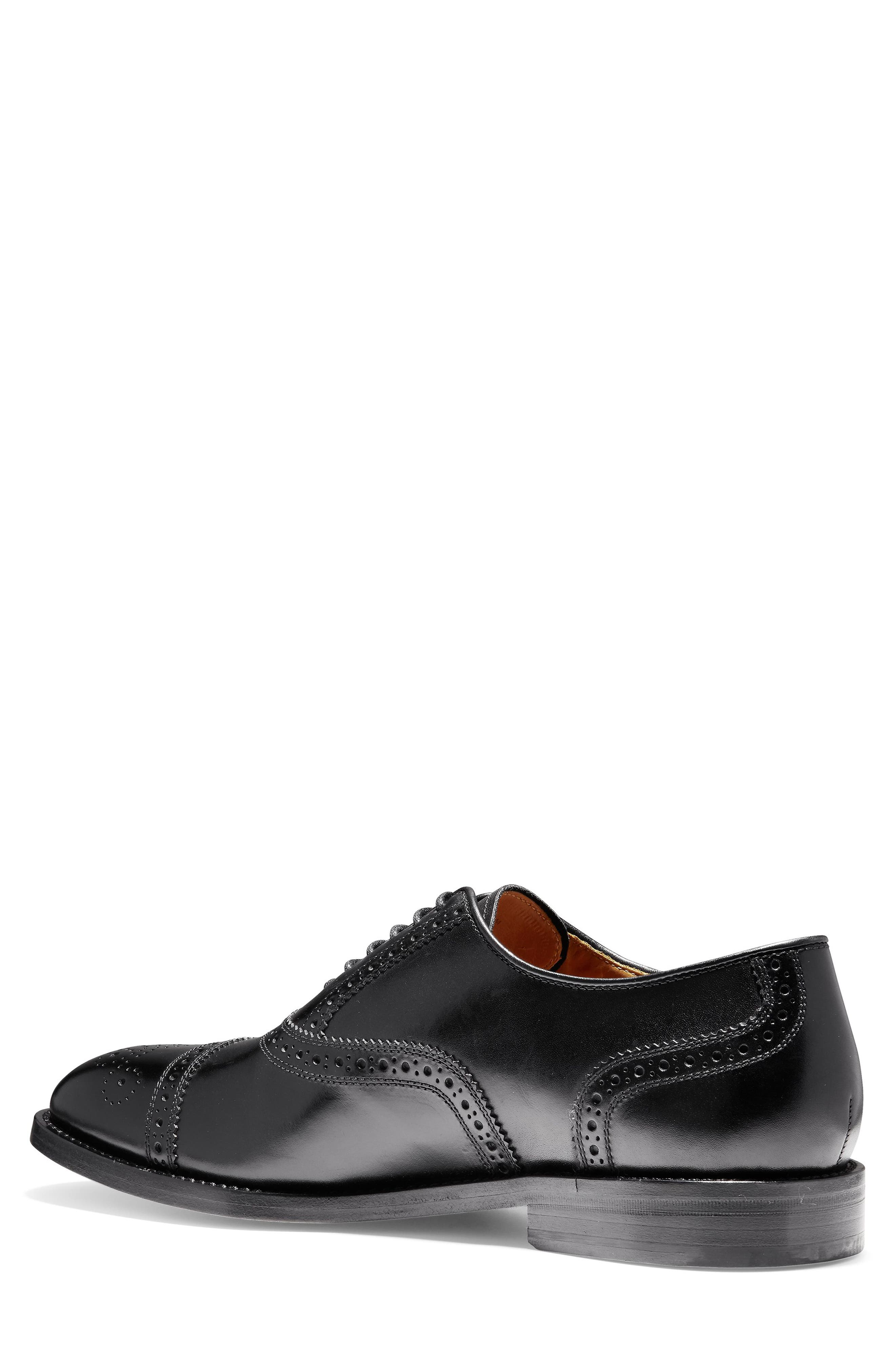 American Classics Kneeland Cap Toe Oxford,                             Alternate thumbnail 2, color,                             BLACK LEATHER