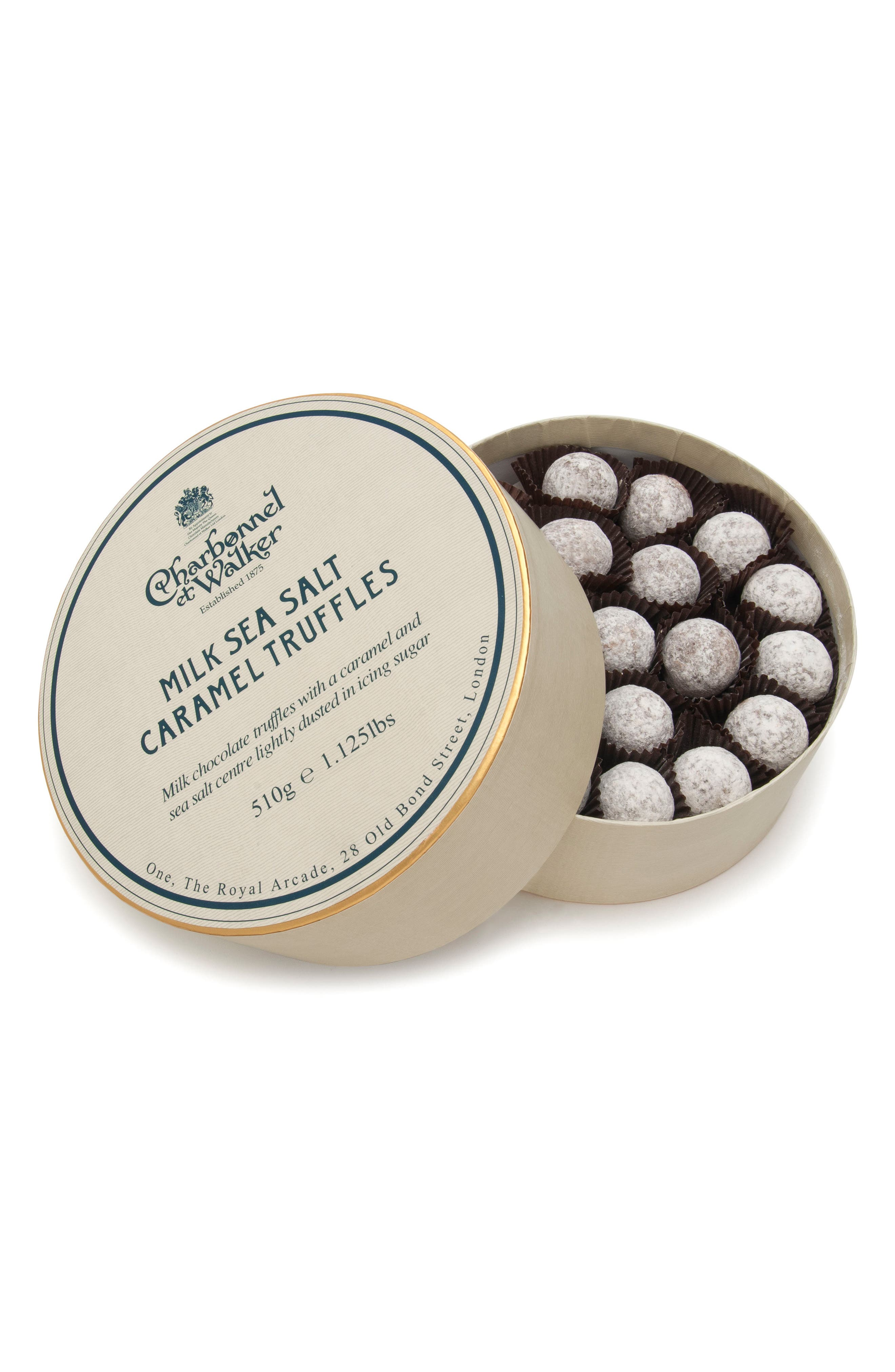 Sea Salt Caramel Milk Chocolate Truffles in Double Layer Gift Box,                         Main,                         color, SEA SALT/ MILK CARAMEL