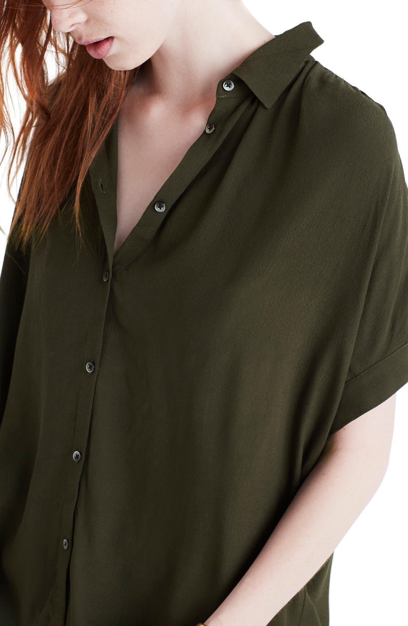 Central Drapey Shirt,                             Alternate thumbnail 3, color,                             KALE